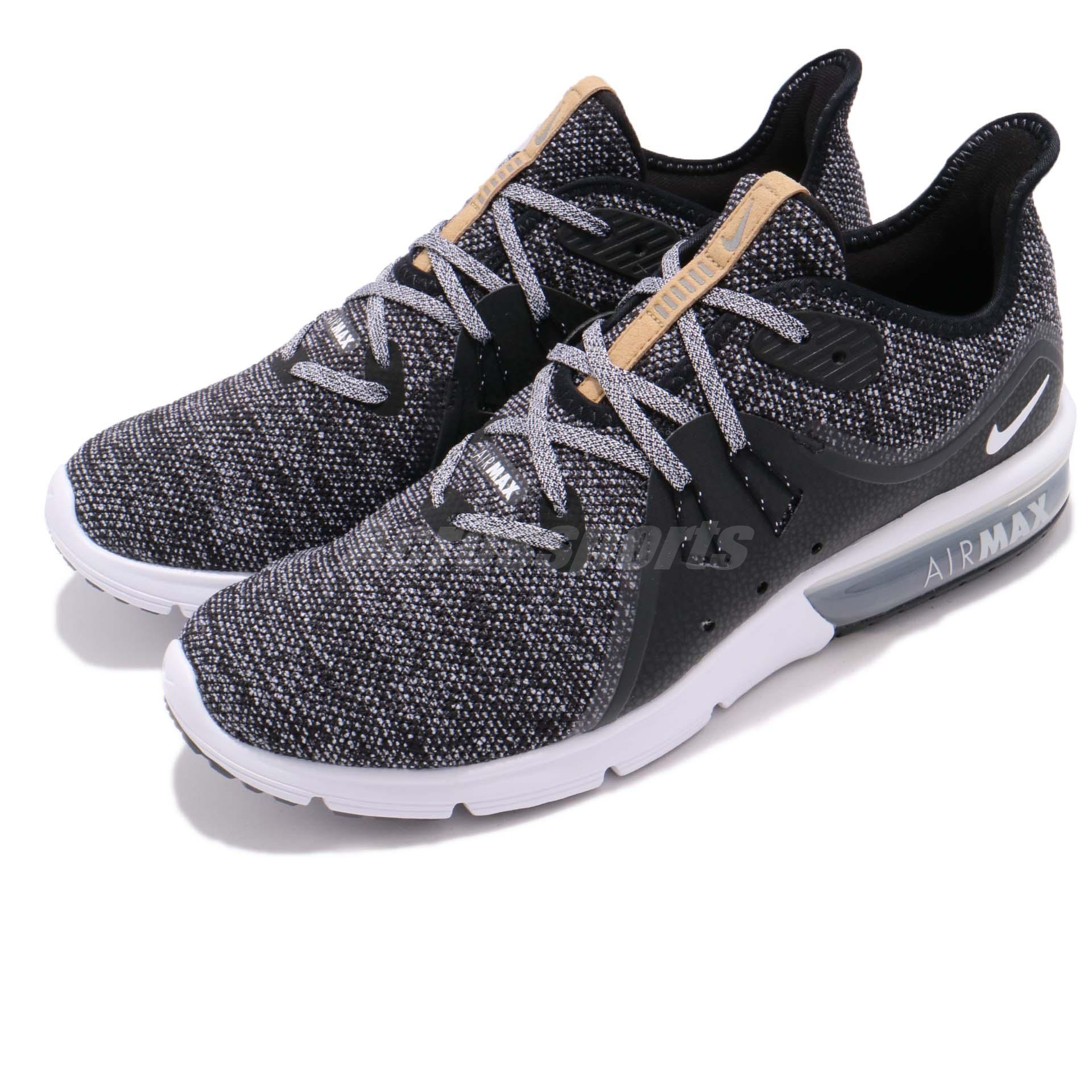Details about Nike Air Max Sequent 3 III Black White Grey Men Running Shoes  Sneaker 921694-011 54a673948d48c