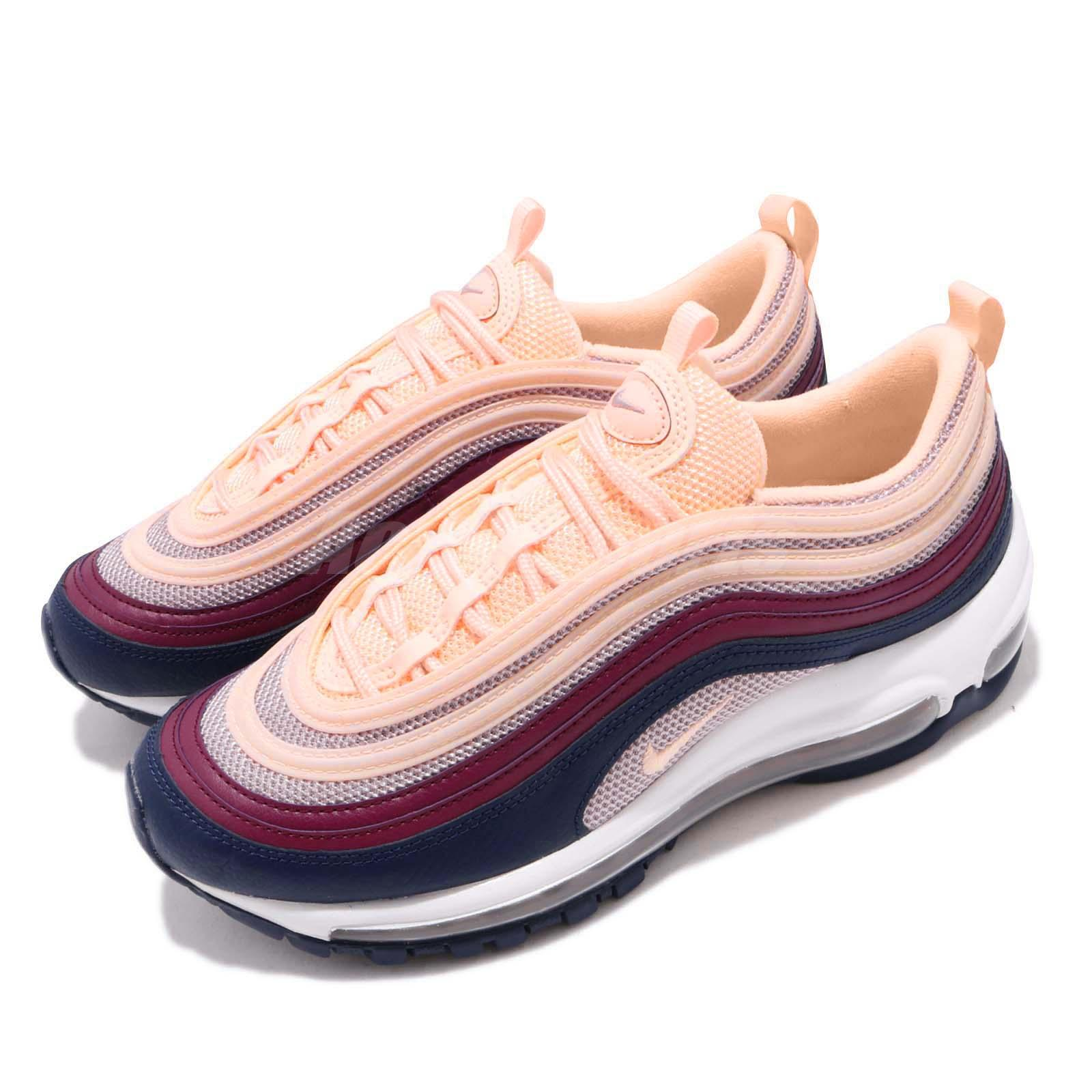875228c62 Details about Nike Wmns Air Max 97 Plum Chalk Crimson Tint Women Running  Shoes 921733-802