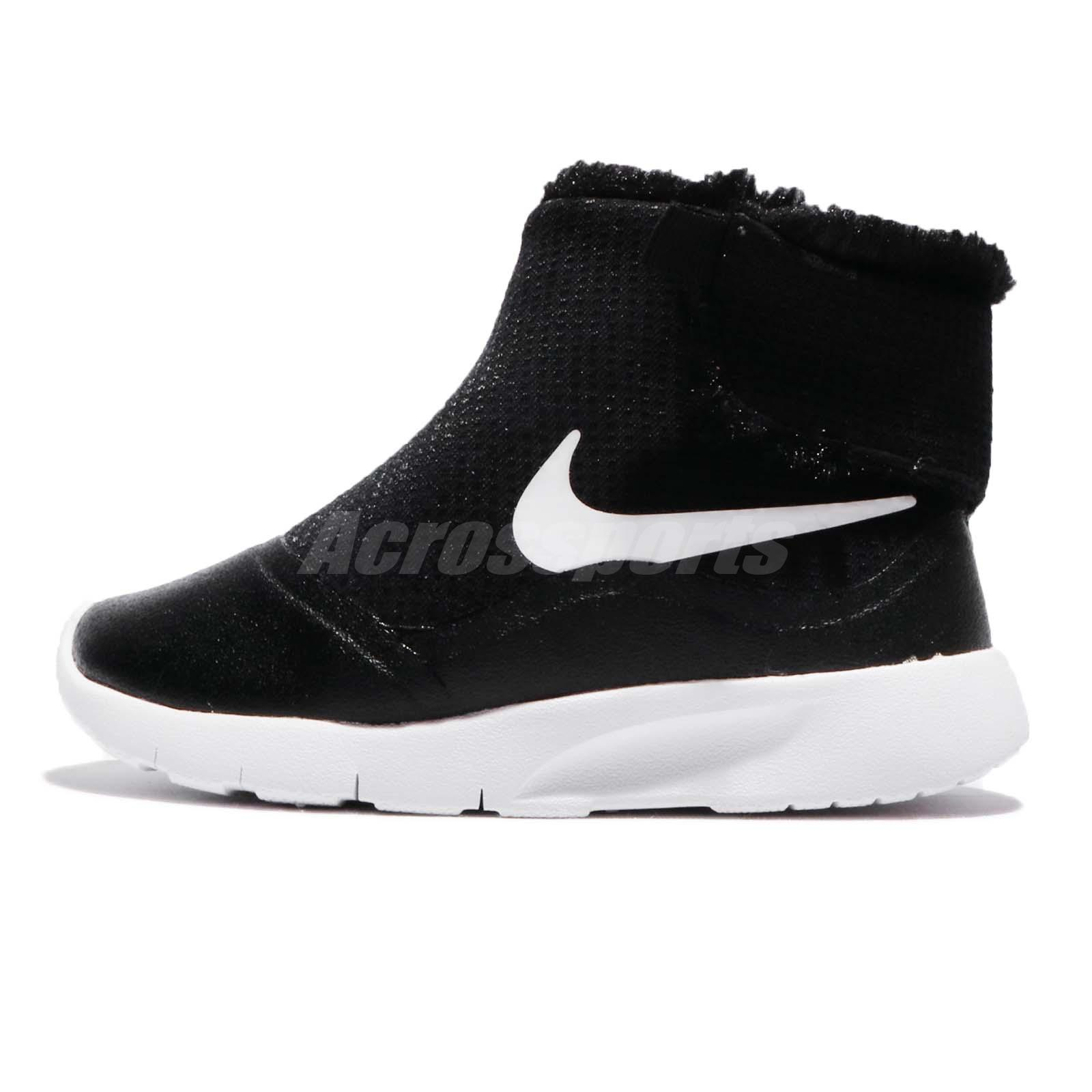 sports shoes 89a45 8fb35 ... canada nike tanjun hi tdv black white infant baby toddler boots sneakers  922870 005 57da3 092bf