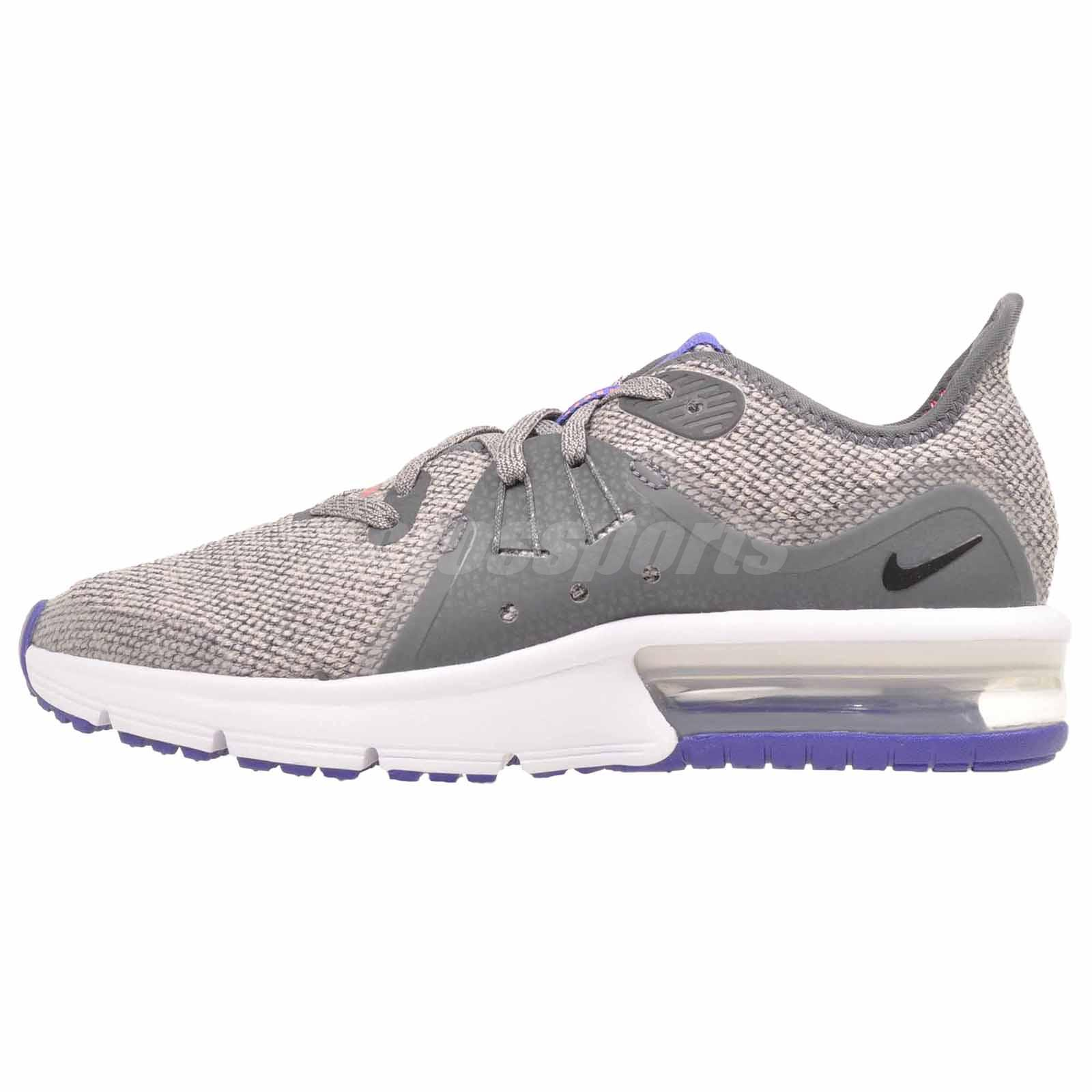 f2c7bd32058 Nike Air Max Sequent 3 (GS) Kids Youth Running Shoes Dark Grey 922884-004