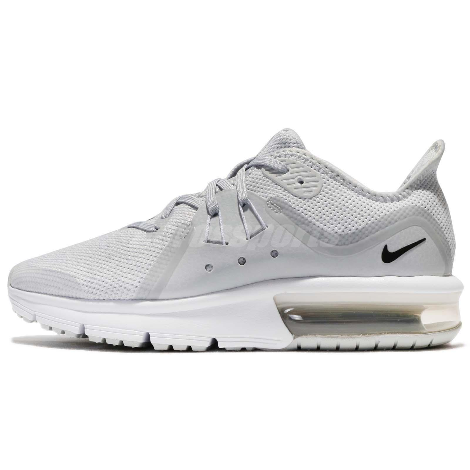 low priced 08b6e 507ef Nike Air Max Sequent 3 GS III Pure Platinum White Kids Women Running  922884-005