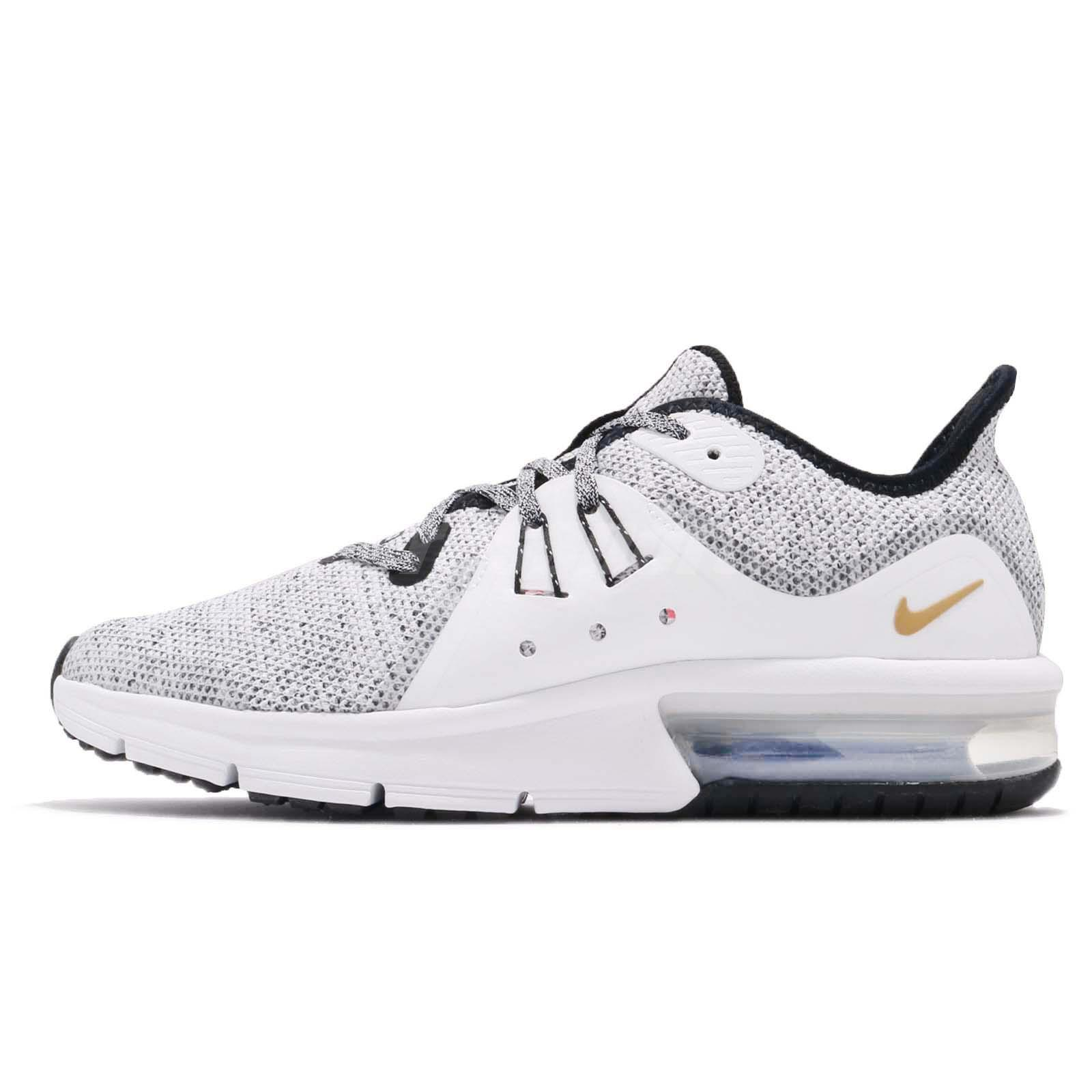 on sale 00ec5 1df2f Nike Air Max Sequent 3 GS Black White Kids Youth Women Running Shoes 922884- 007