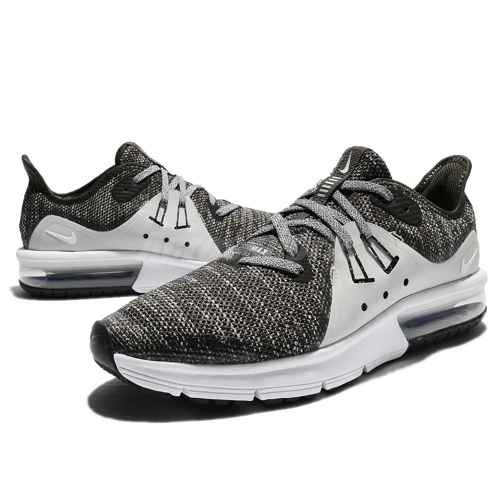 finest selection 86442 2318c Nike Air Max Sequent 3 III GS Sequoia White Bone Kids Women Running ...