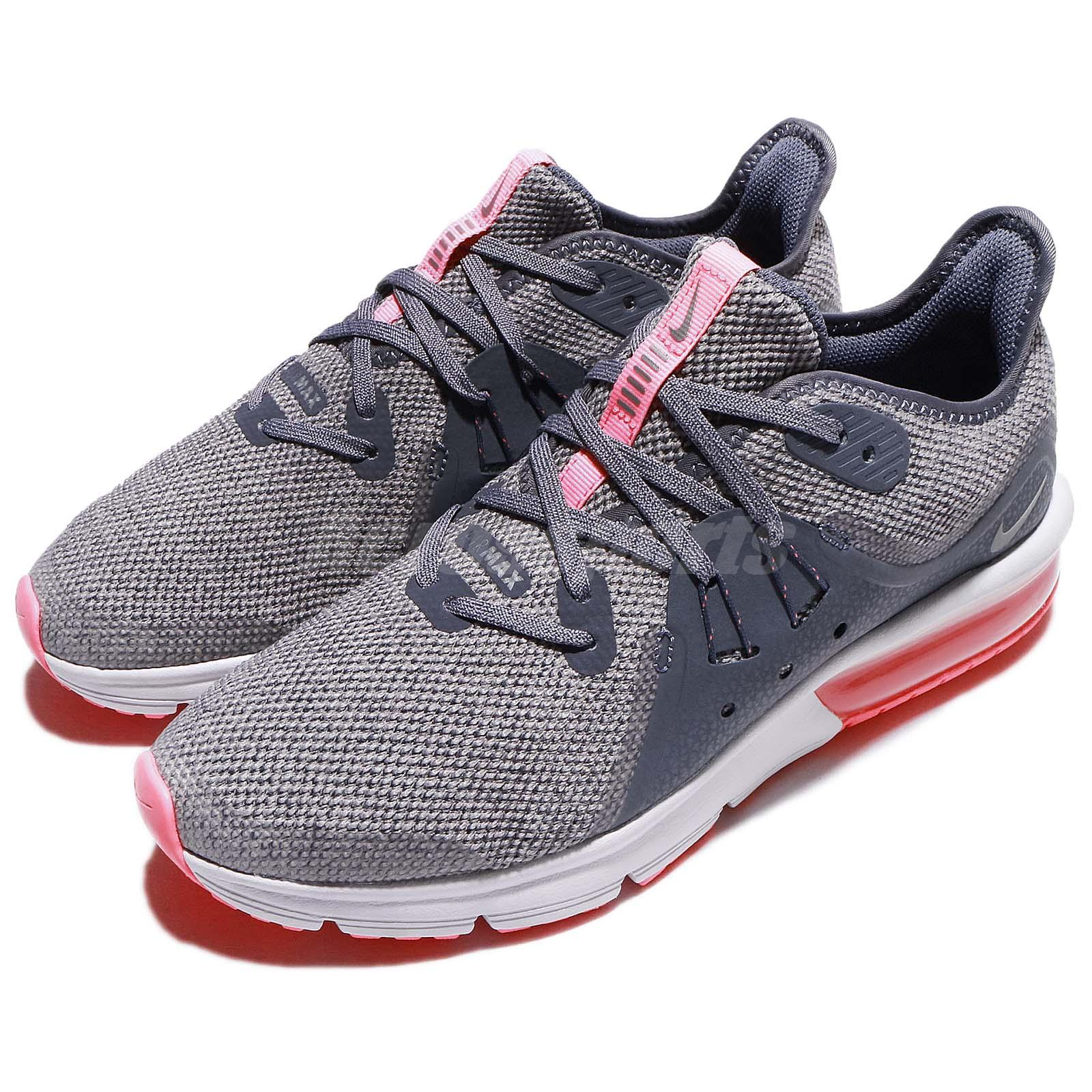 Details about Nike Air Max Sequent 3 GS Grey Pink Youth Kids Womens Running Shoes 922885 003