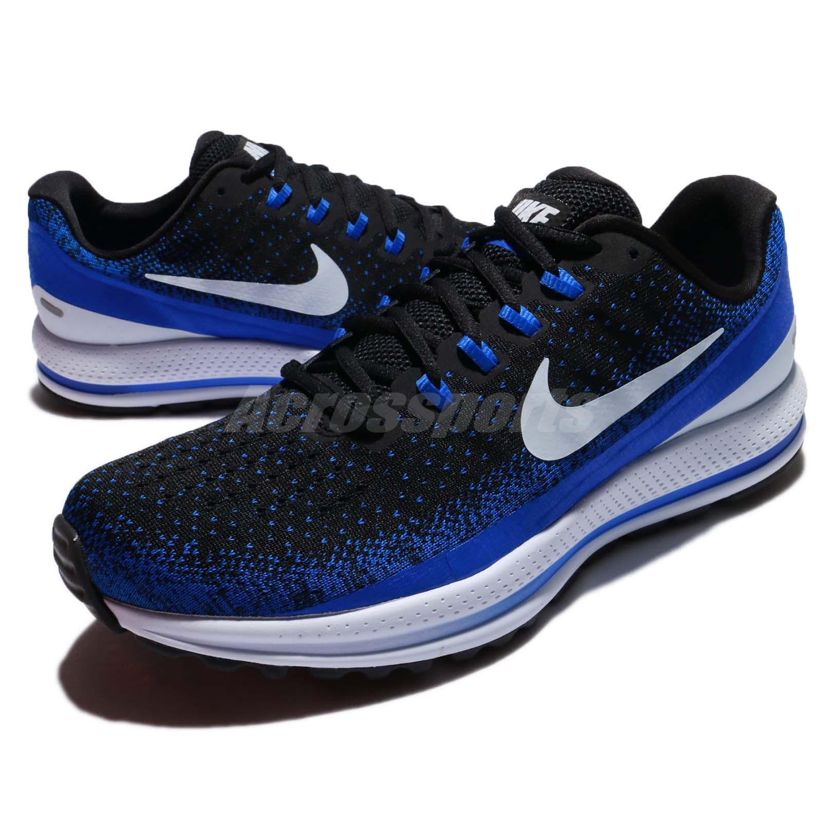 c550d1914bbe Details about Nike Air Zoom Vomero 13 Black Blue Tint Racer Men Running  Shoes 922908-002