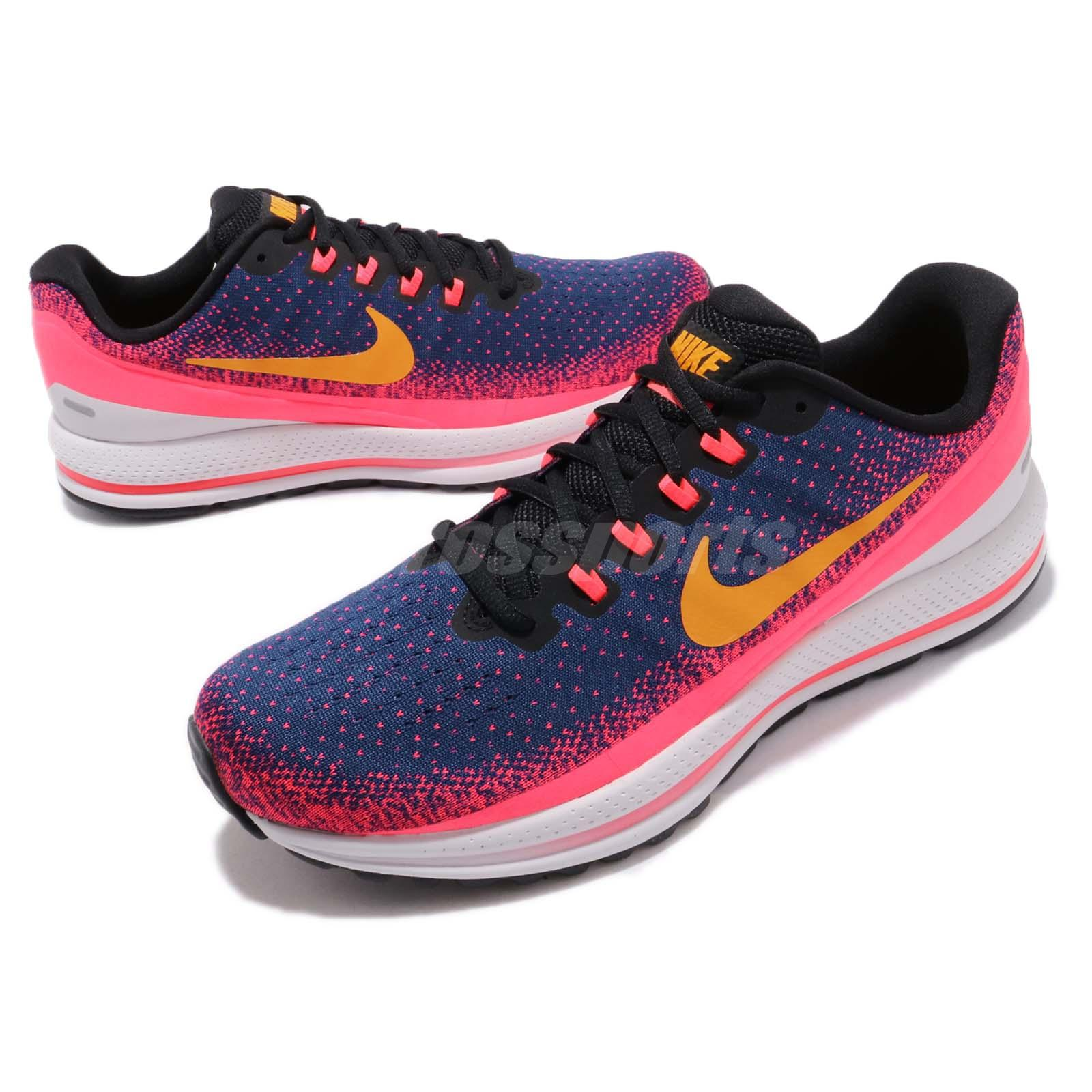 half off a081e b9b81 Nike Air Zoom Vomero 13 XIII Blue Void Orange Peel Men Running Shoes ...