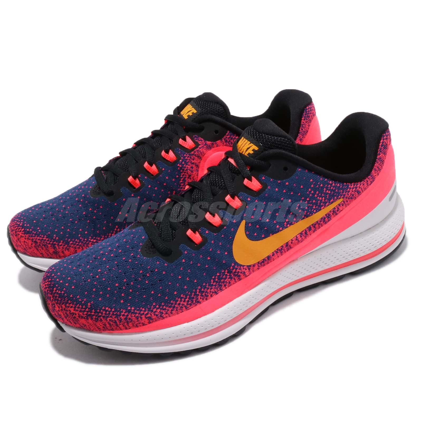 sports shoes c7eb5 6a163 Details about Nike Air Zoom Vomero 13 XIII Blue Void Orange Peel Men  Running Shoes 922908-483