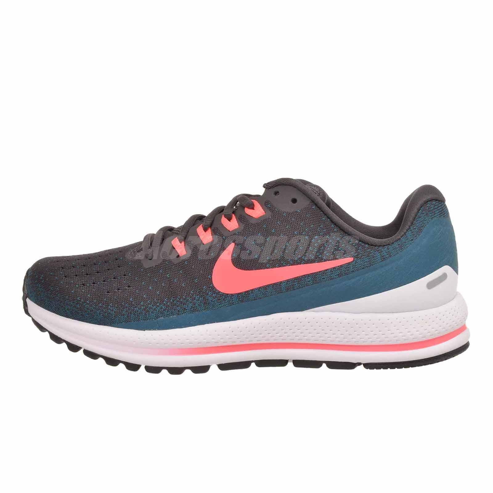 82993d090ff5 Nike Air Zoom Vomero 13 Running Womens Shoes Grey Blue Punch 922909 ...