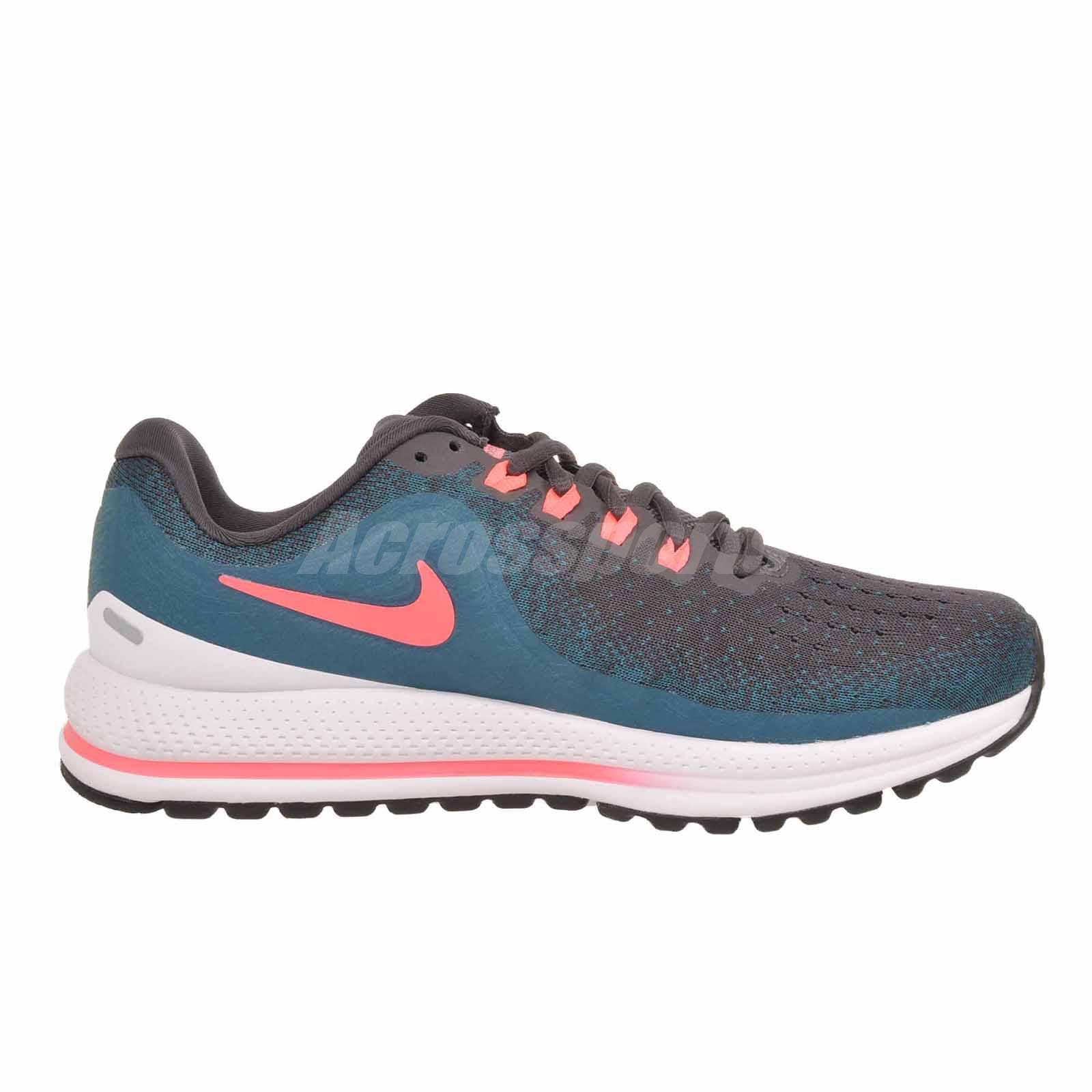5a8a23442e6e1 Nike Air Zoom Vomero 13 Running Womens Shoes Grey Blue Punch 922909 ...