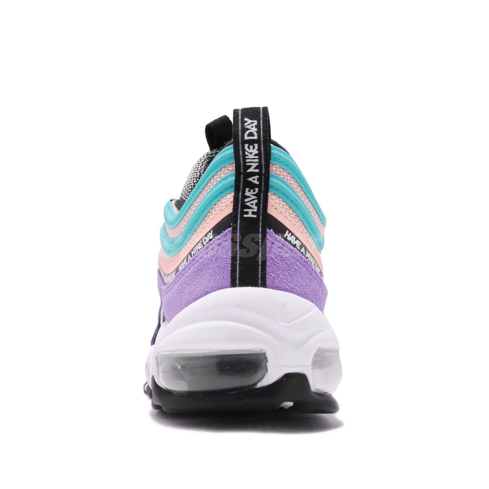 c4024c18ef5 Details about Nike Air Max 97 SE GS Have A Nike Day Space Purple Kid Women  Shoes 923288-500