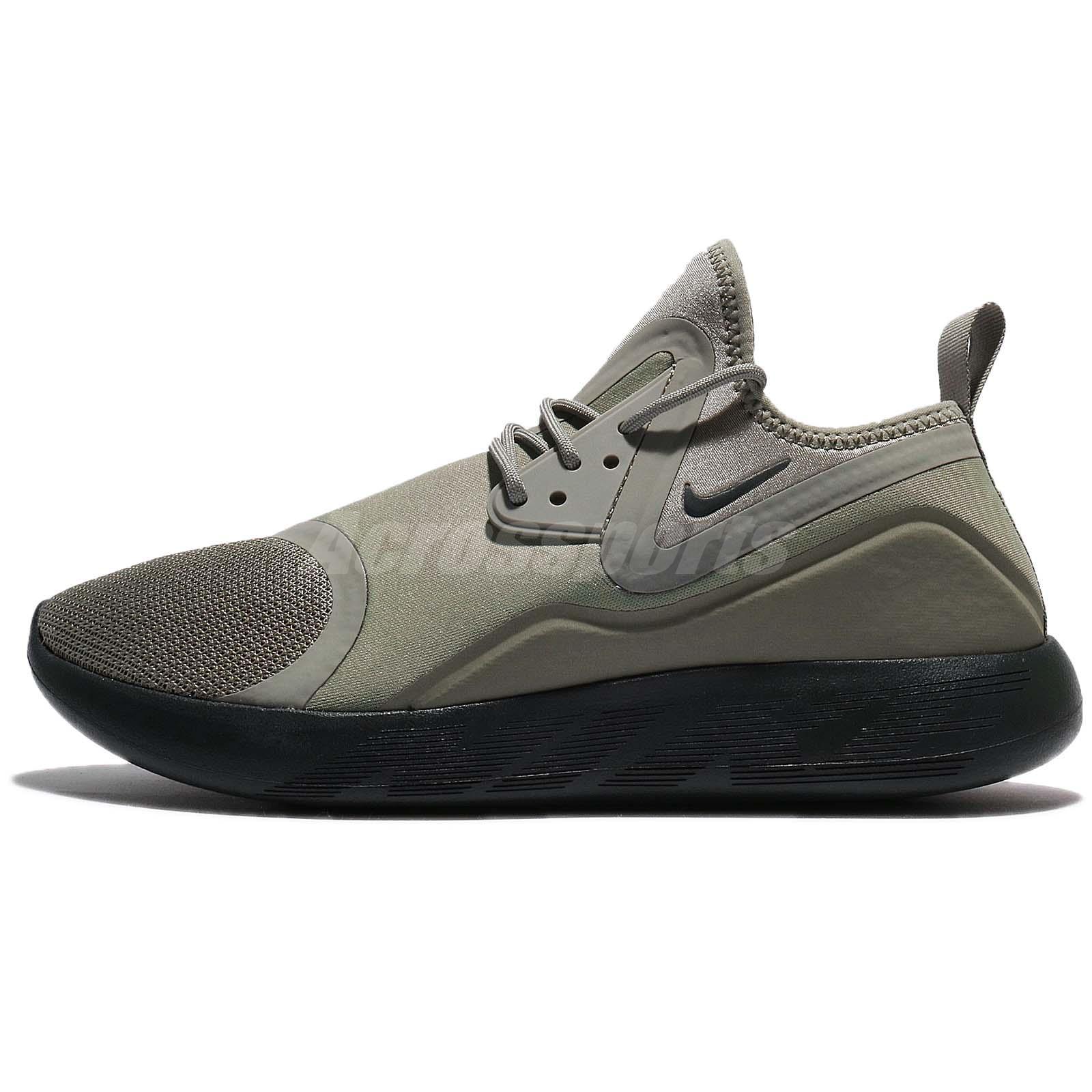 Nike Lunarcharge Essential Dark Stucco Green Men Running Shoe Sneaker 923619 -005 11ef8a0a4