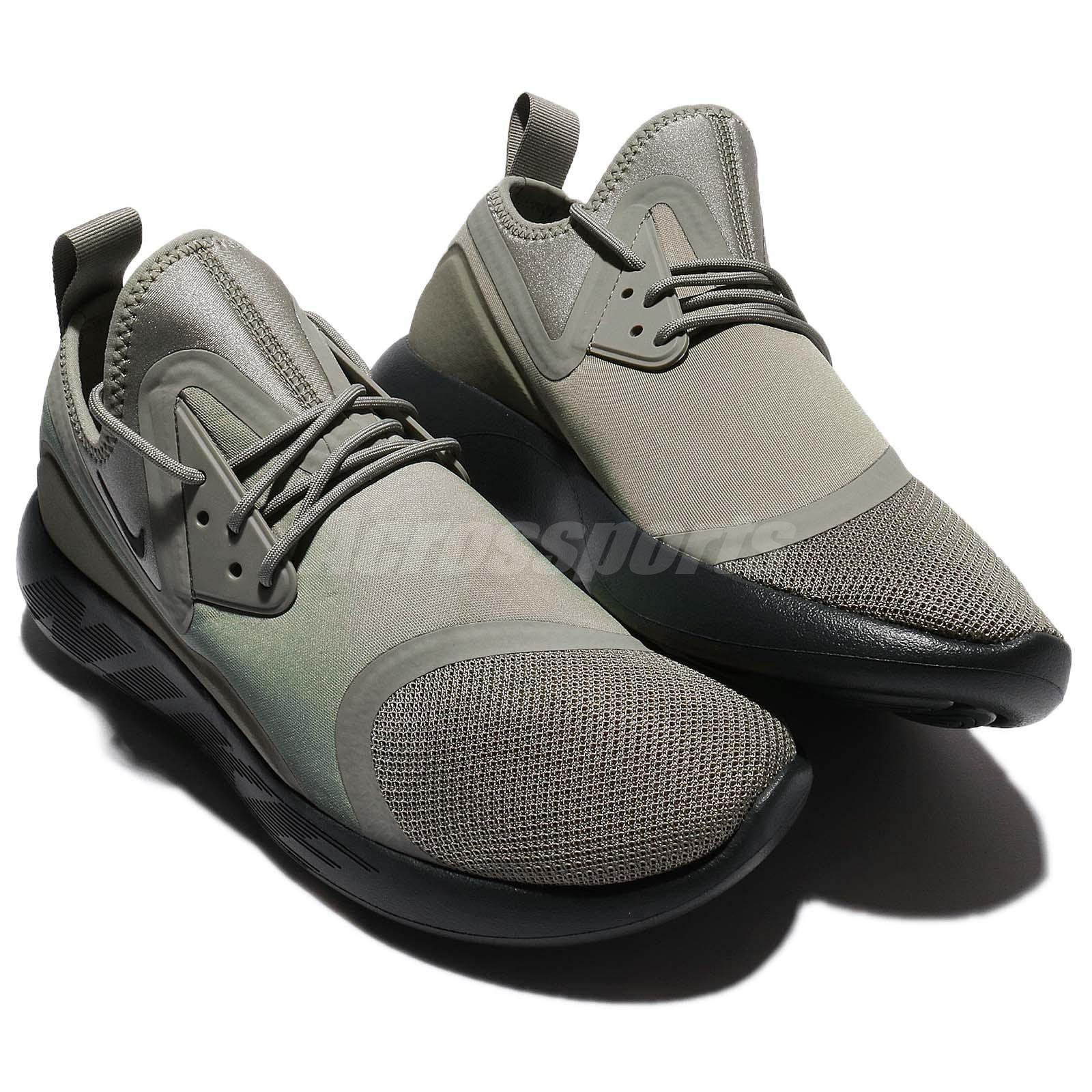 Nike Lunarcharge Essential Dark Stucco Green Men Running Shoe ... 90772a89f