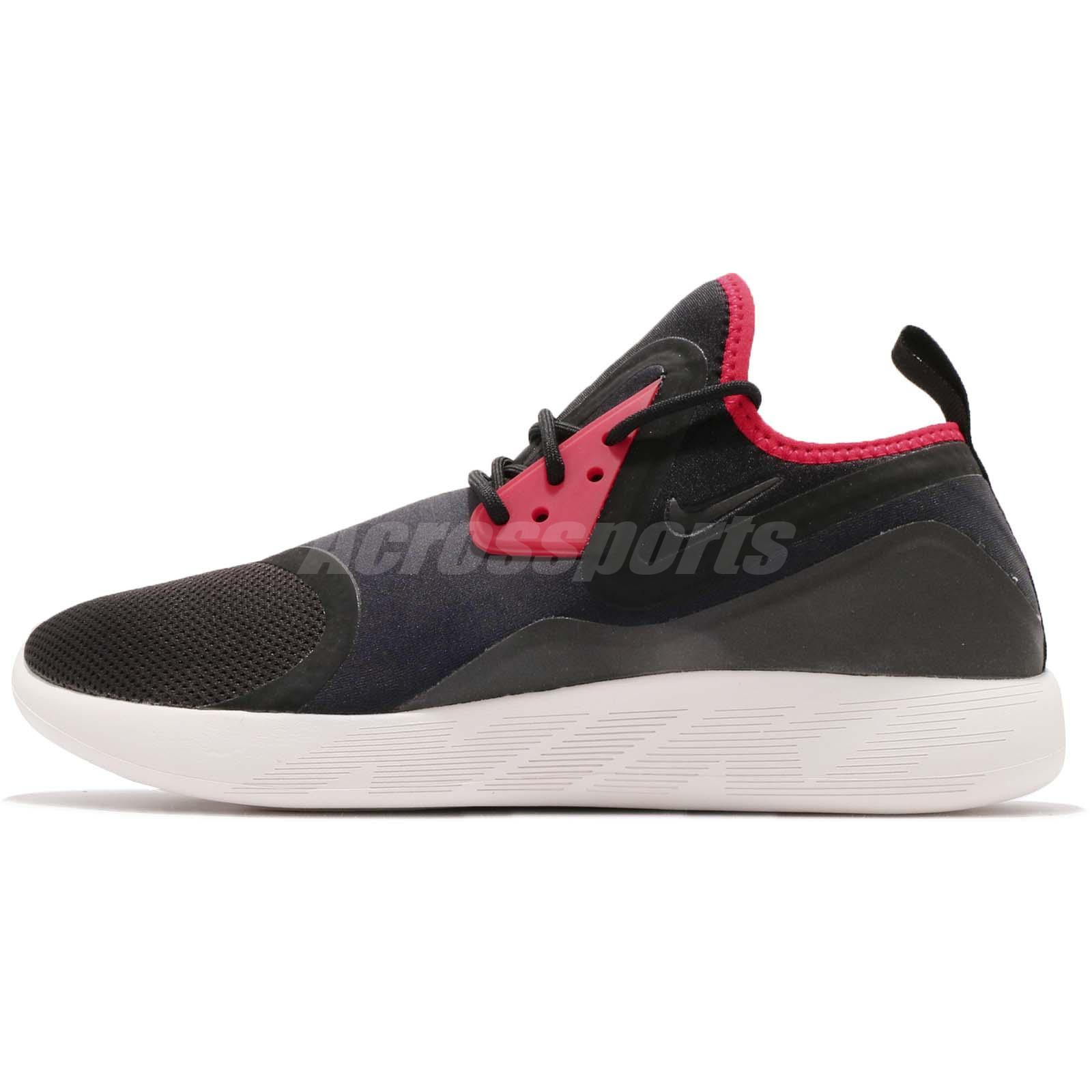 Nike Lunarcharge Essential Black Red Men Running Shoes Sneakers 923619-008 ad54731a9