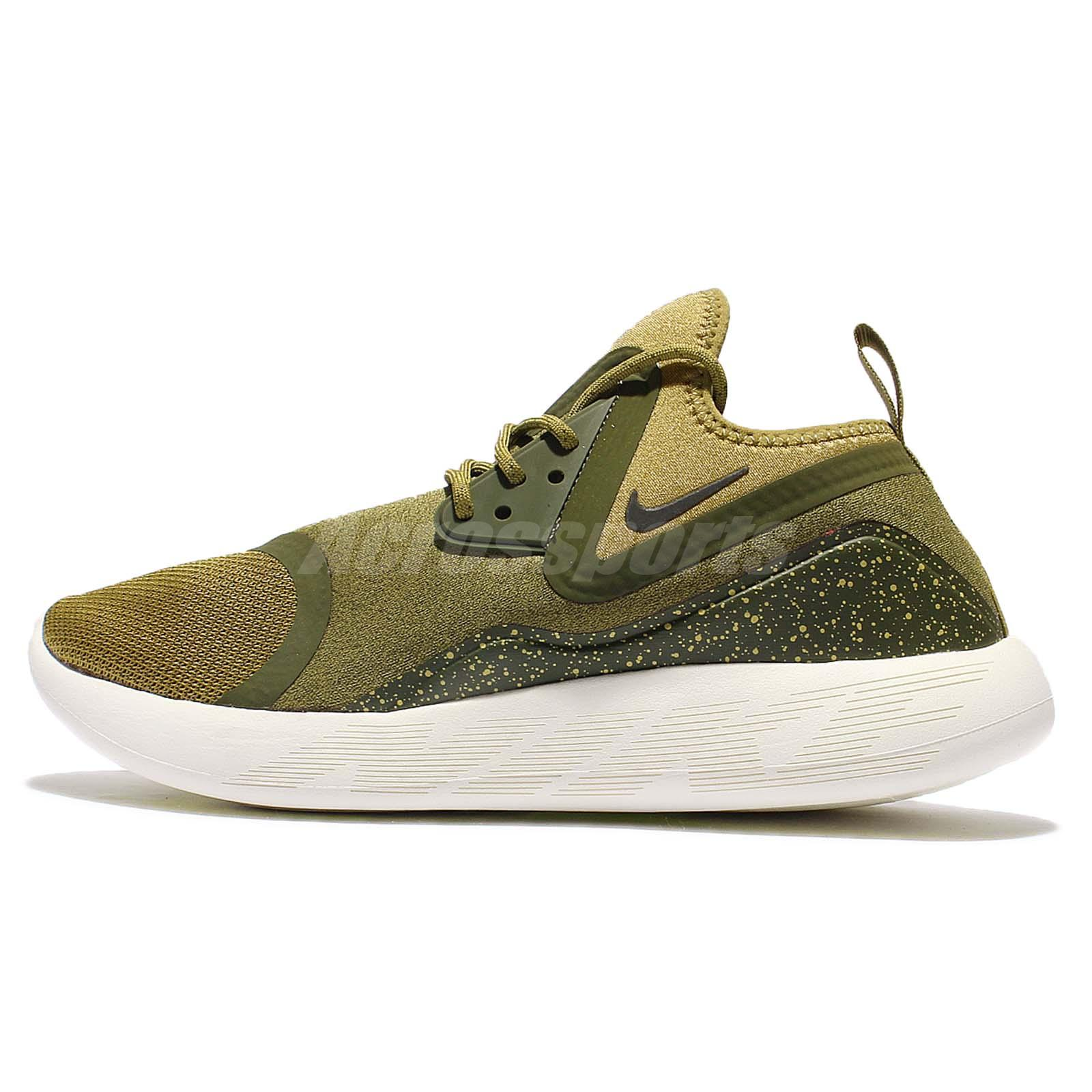 Nike Lunarcharge Essential Camper Green Men Running Shoes Sneakers 923619 -300 725607d8e