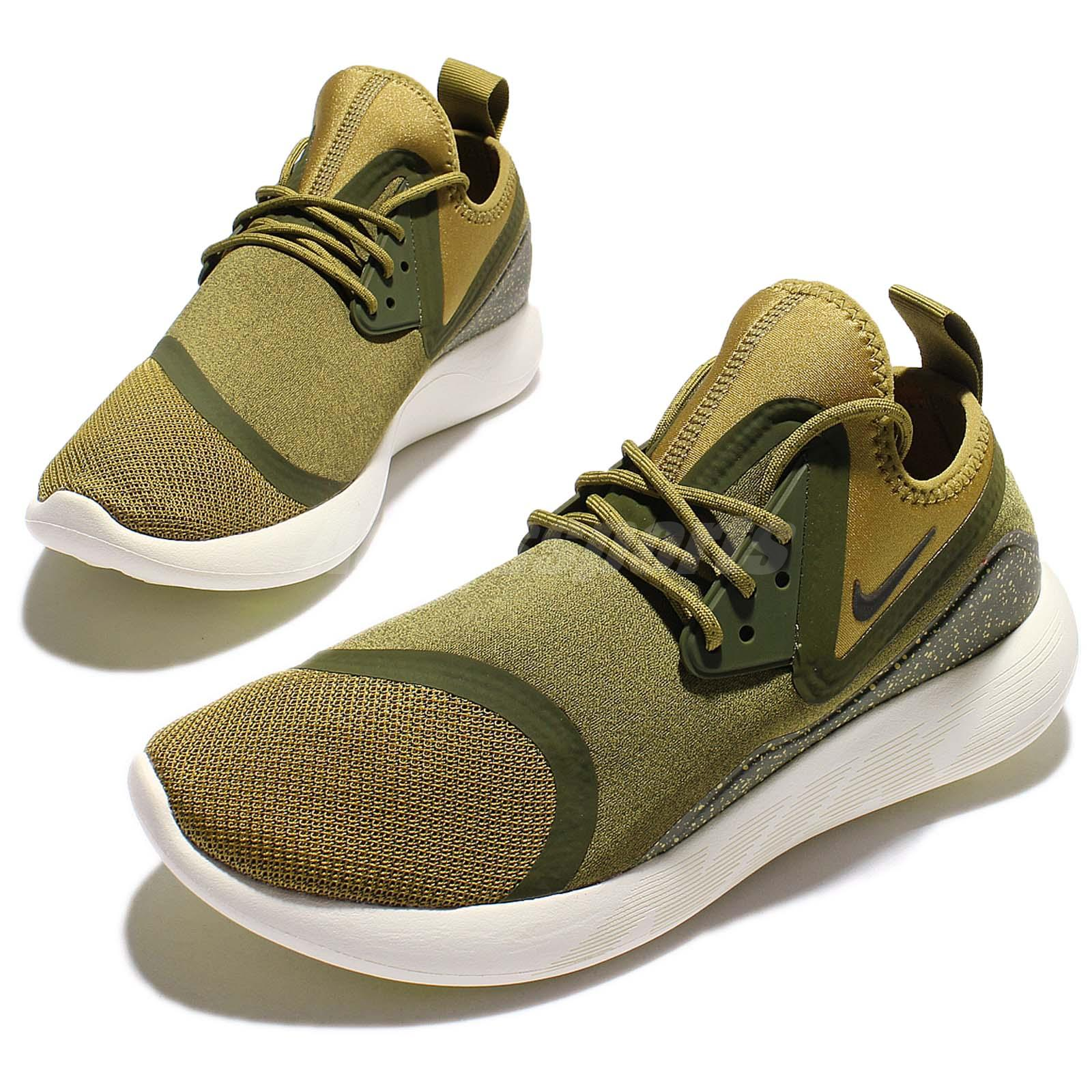 Nike Lunarcharge Essential Camper Green Men Running Shoes Sneakers ... 16c54769d
