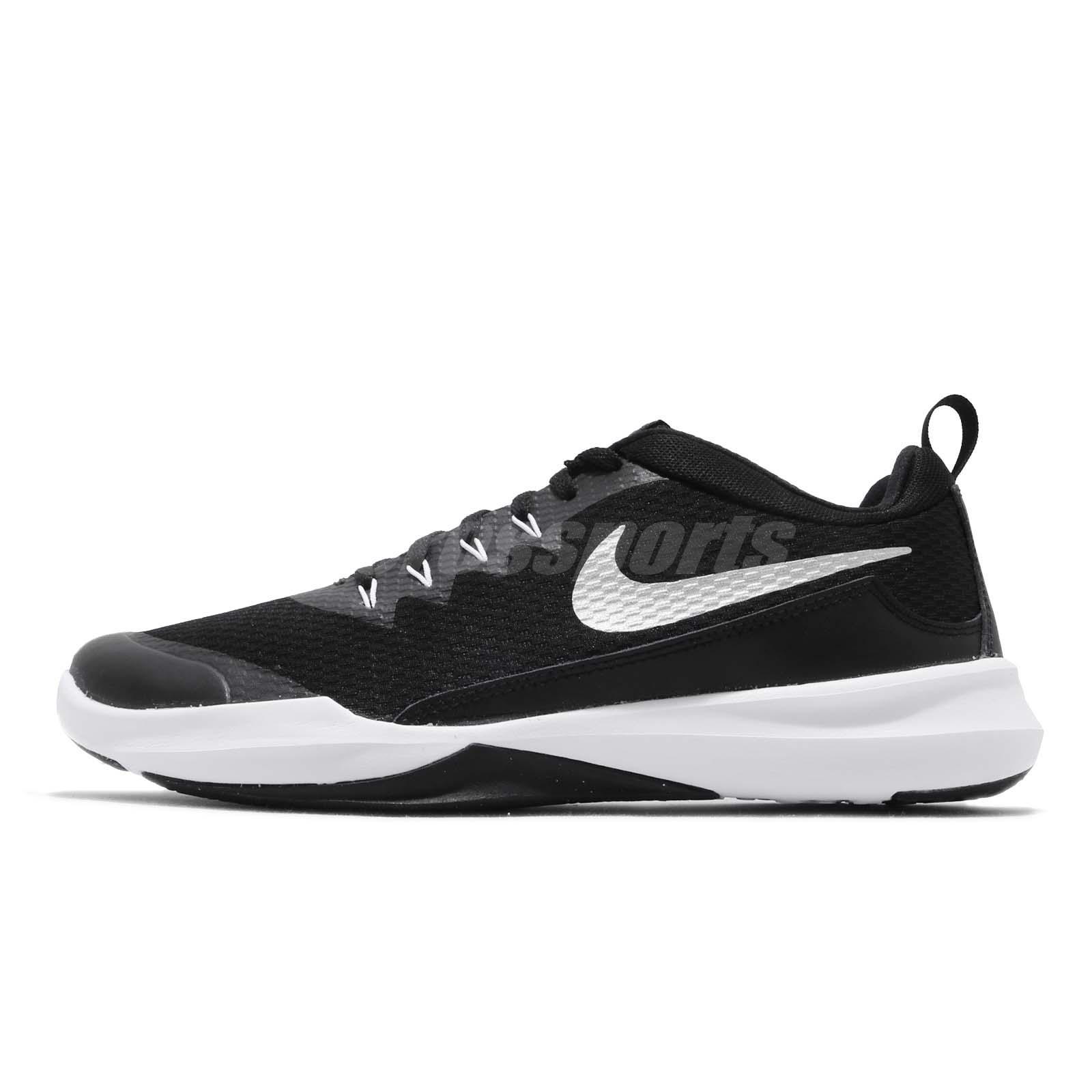 ed8edb2167a Nike Legend Trainer Black Silver White Men Cross Training Shoes 924206-001