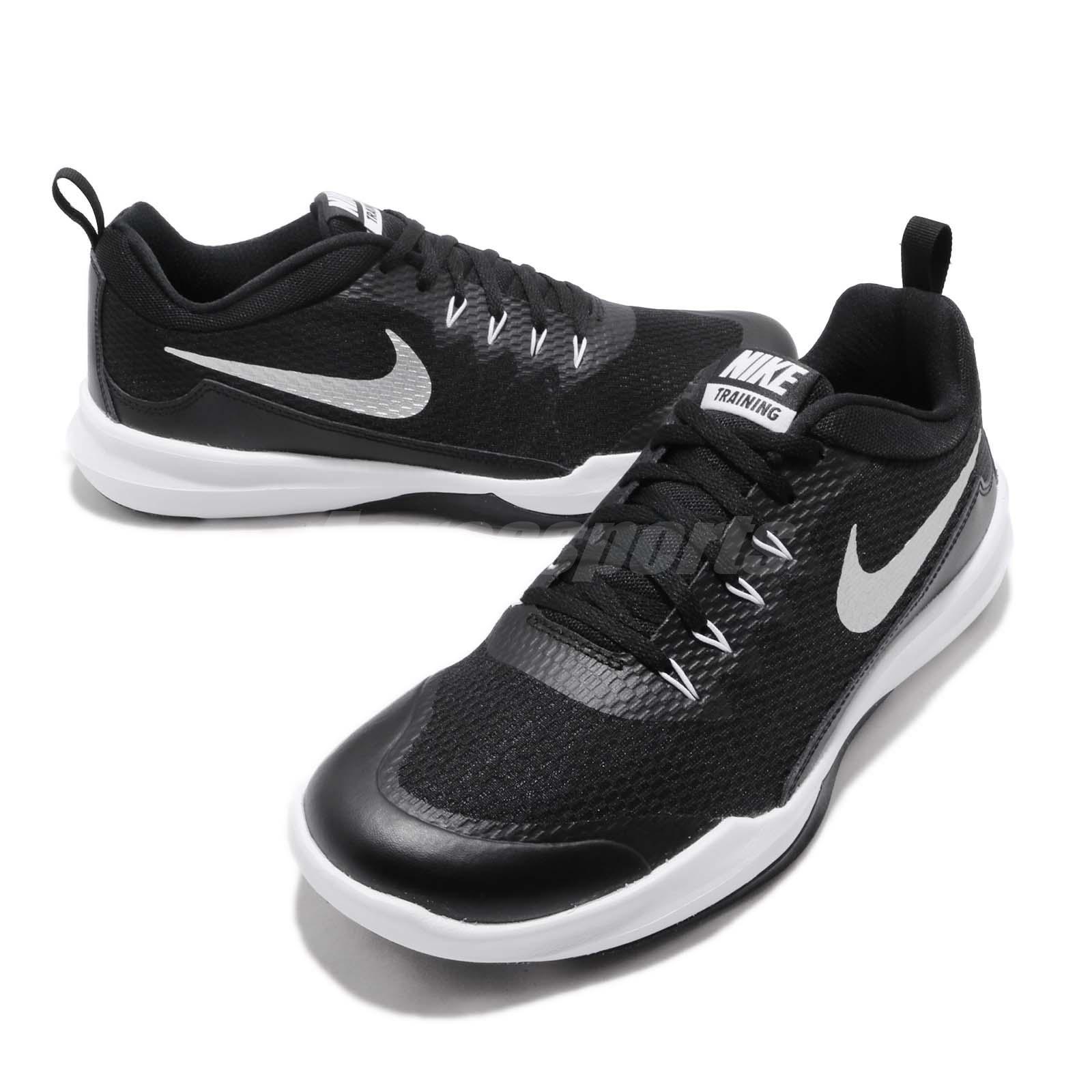bfe5840048e Nike Legend Trainer Black Silver White Men Cross Training Shoes ...