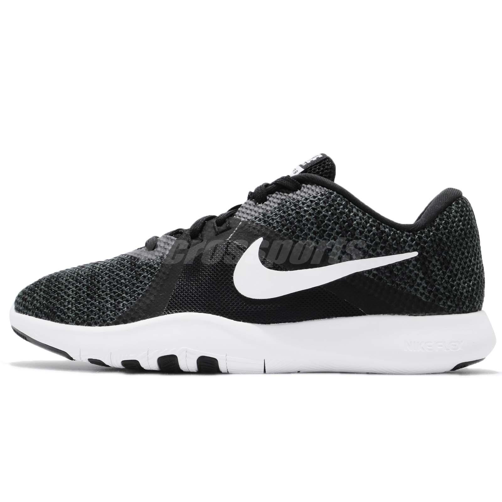 4c6da3a4b4232 Wmns Nike Flex Trainer 8 VIII Black White Women Cross Training Shoes 924339- 001