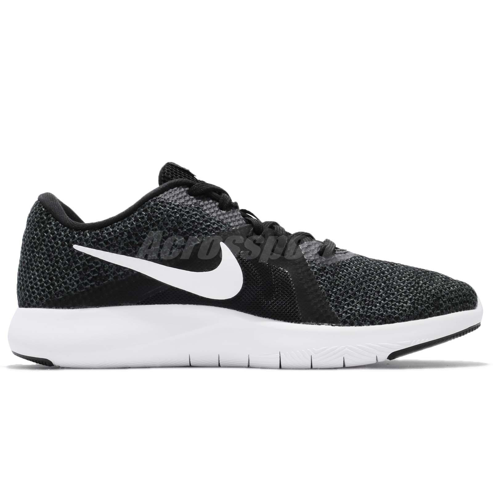 6ed43d56b05f8 Wmns Nike Flex Trainer 8 VIII Black White Women Cross Training Shoes ...