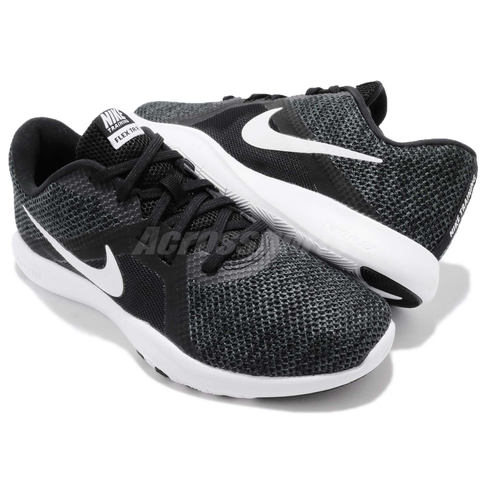 brand new 23a27 8a7ee Wmns Nike Flex Trainer 8 VIII Black White Women Cross Training Shoes ...