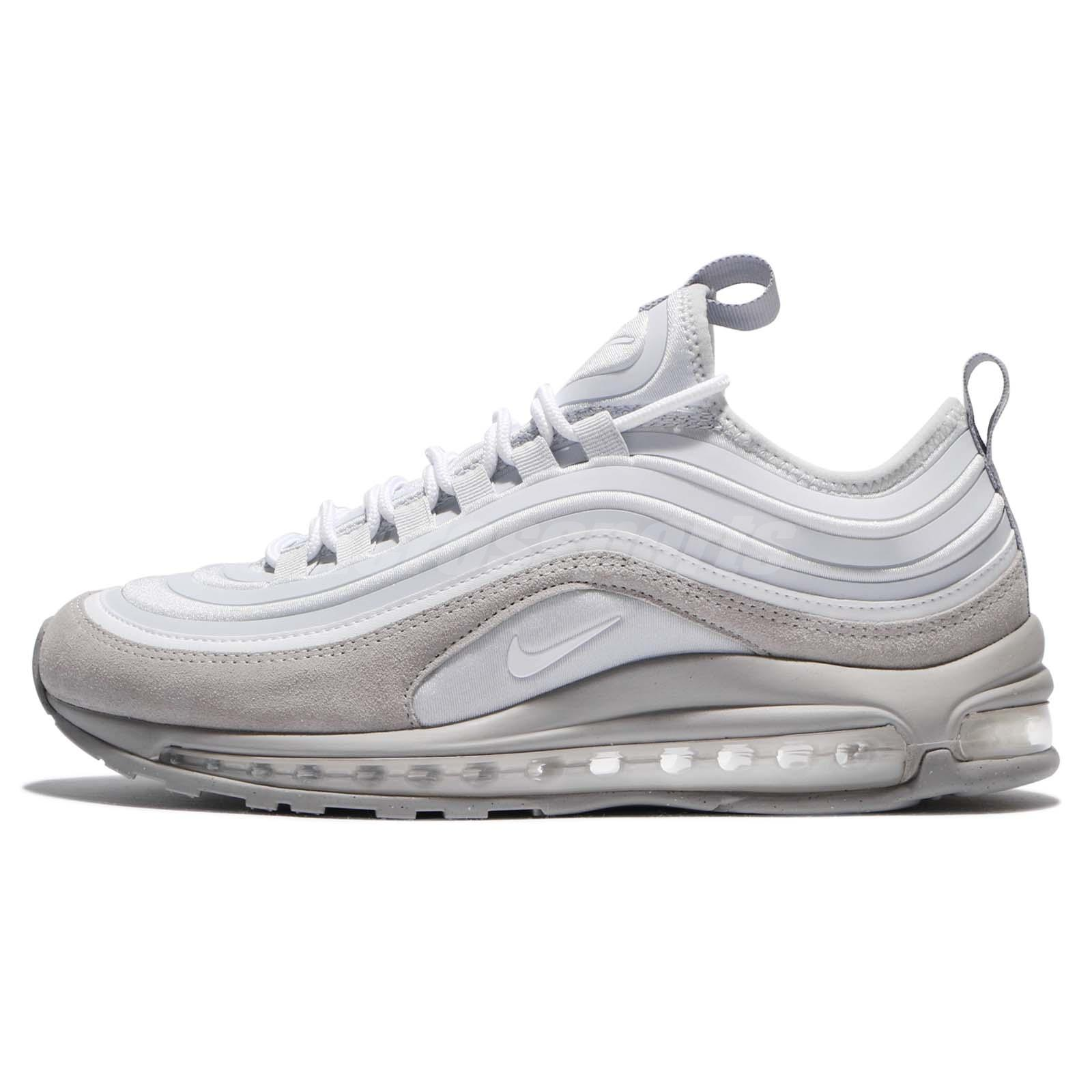 Nike Air Max 97 UL 17 SE Ultra Pure Platinum Wolf Grey Men Sock-Like ... a960eb913