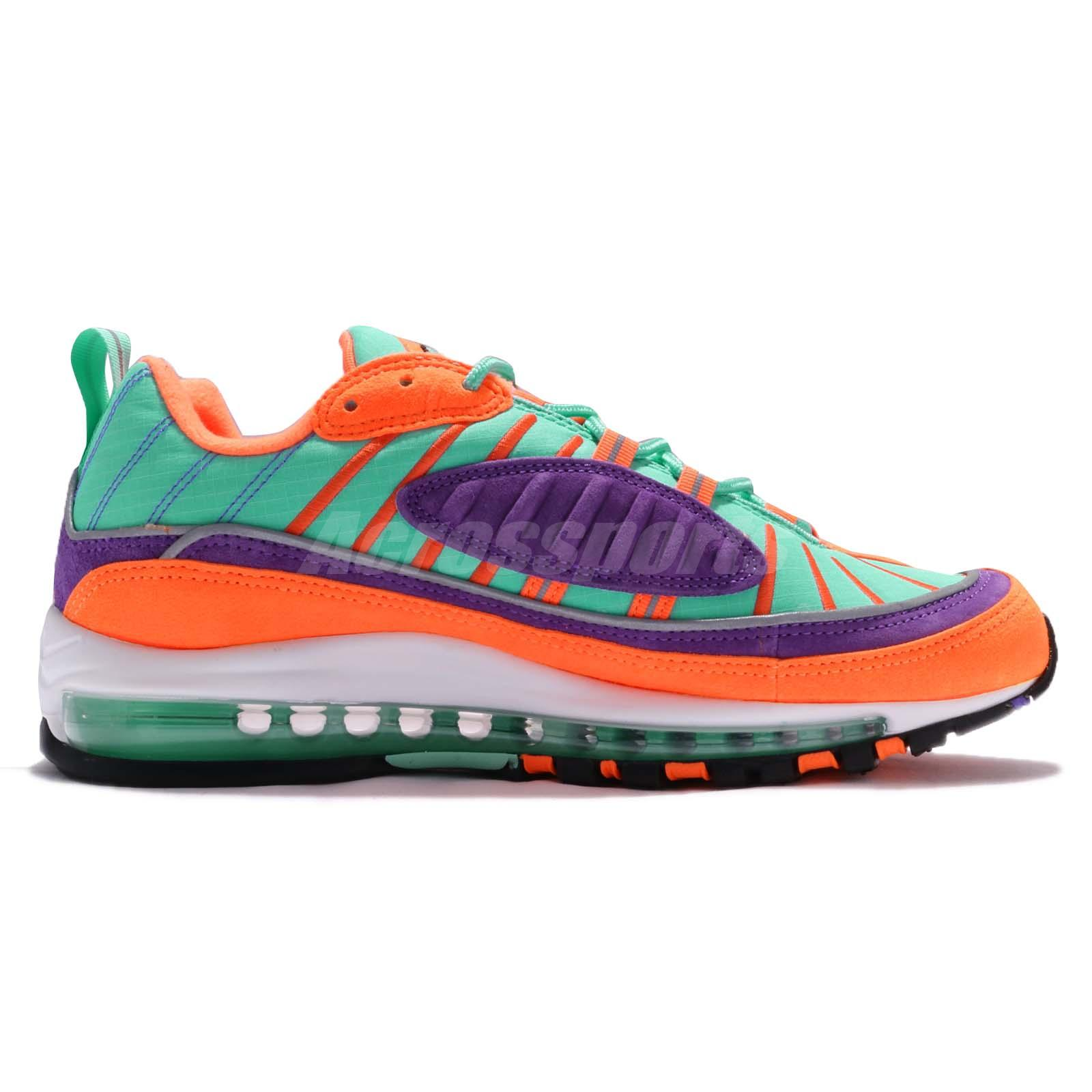 1795a9e029d2 Nike Air Max 98 QS Cone Vibrant Air Tour Yellow Grape Men Limited ...