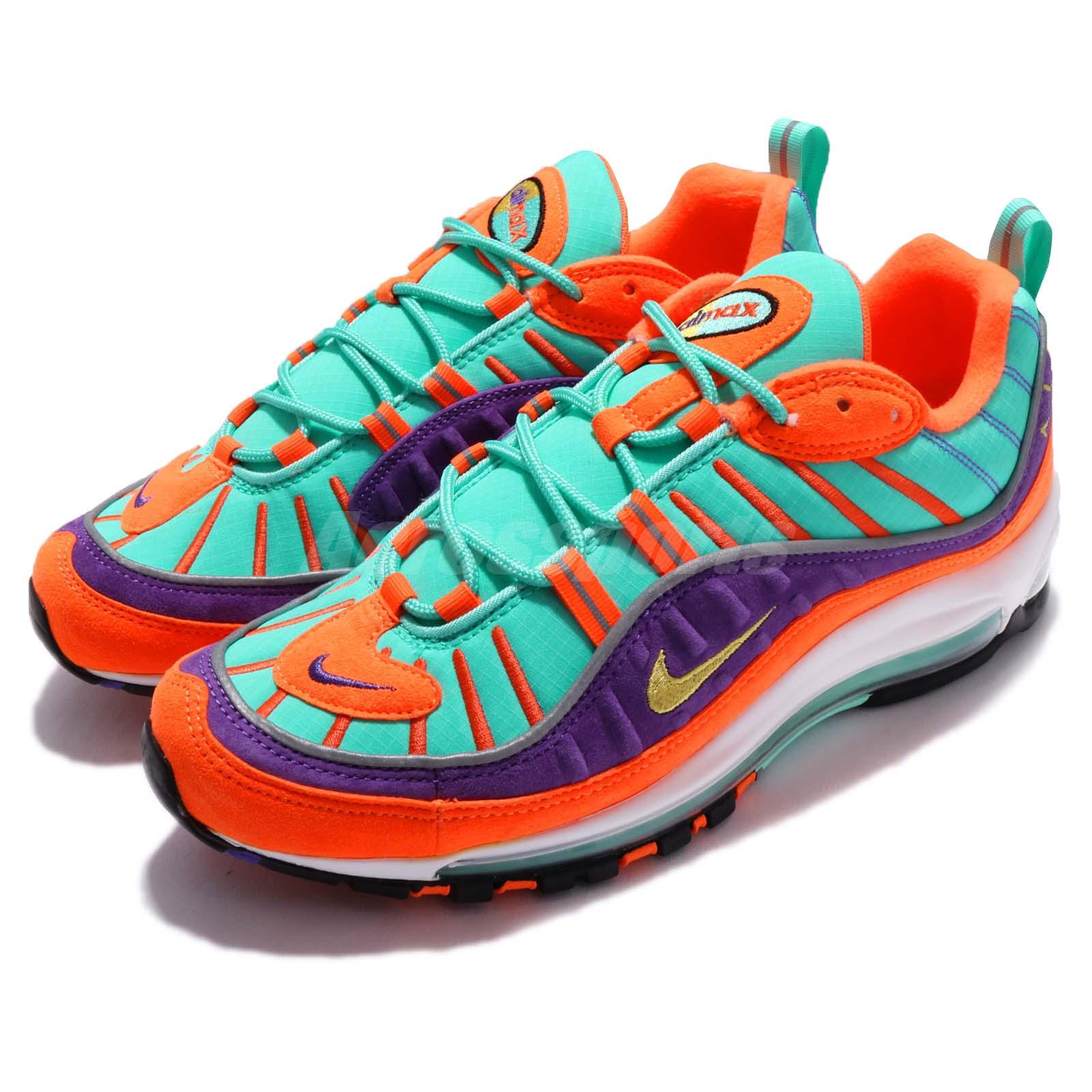 96cb7dcbf9 Details about Nike Air Max 98 QS Cone Vibrant Air Tour Yellow Grape Men  Limited 924462-800