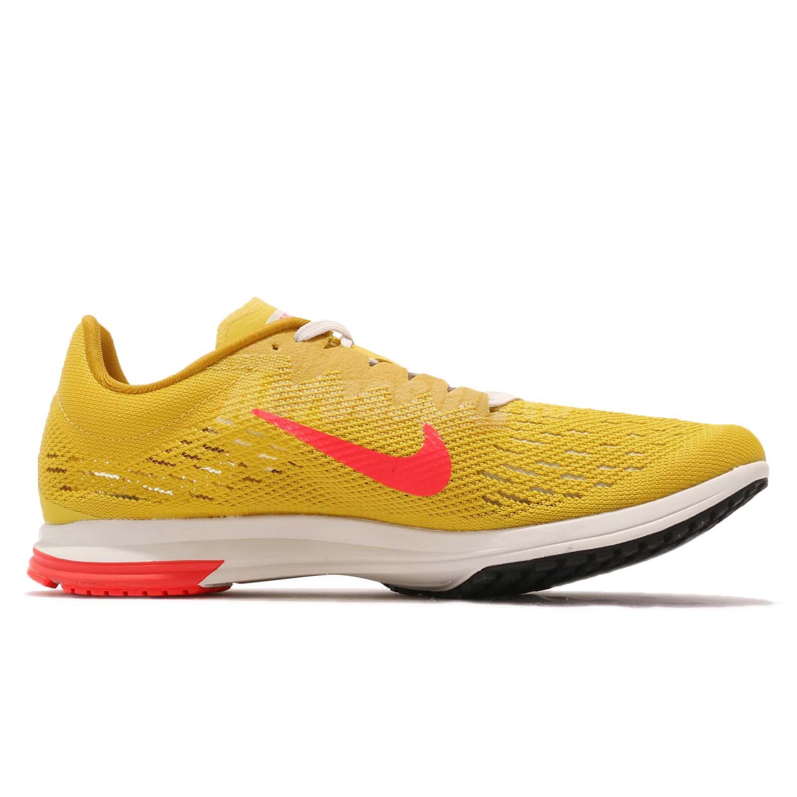 323afeaf983b9 Nike Air Zoom Streak LT 4 Yellow Pink Mens Racing Running Shoes ...