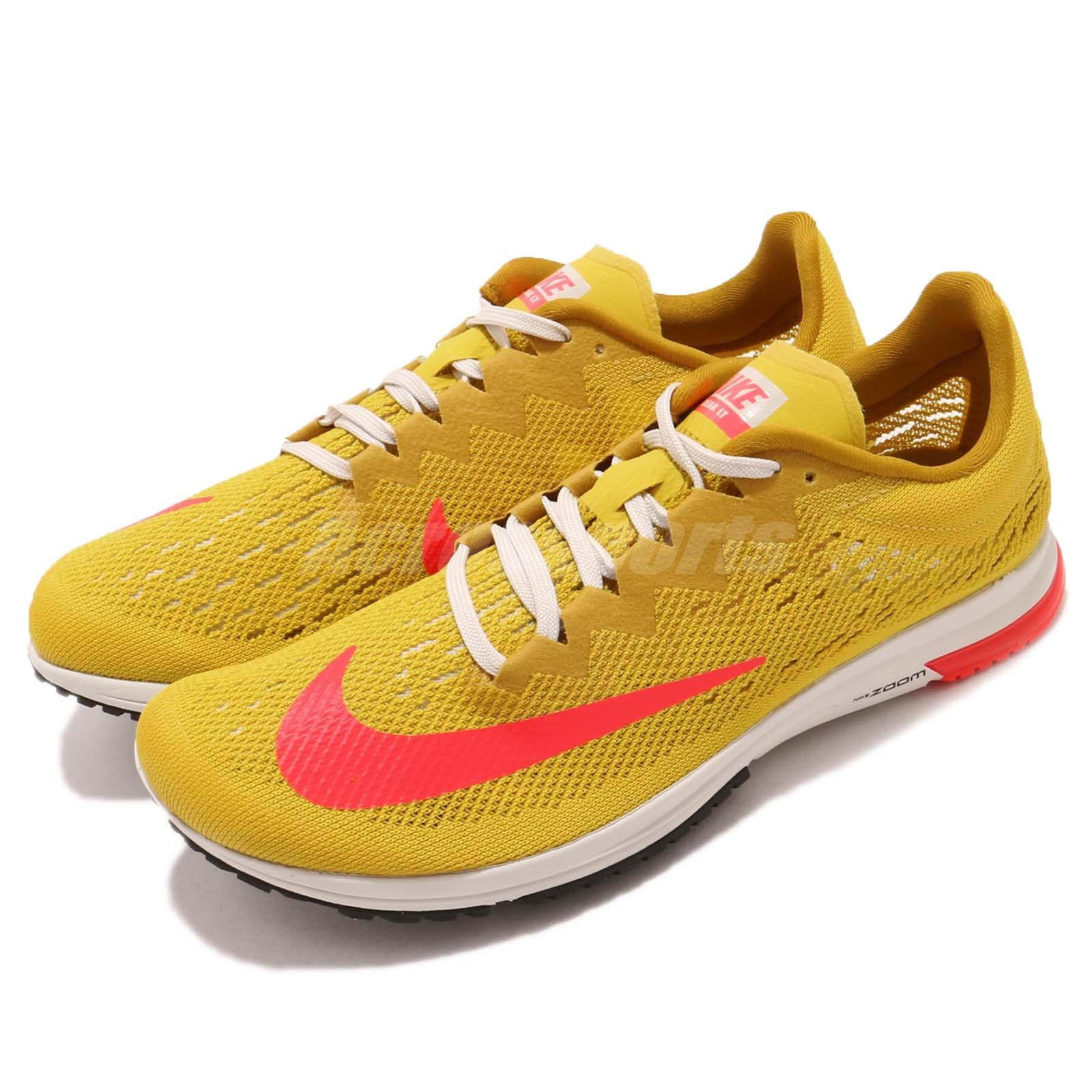 the latest 8834c 7b072 Details about Nike Air Zoom Streak LT 4 Yellow Pink Mens Racing Running  Shoes 924514-706