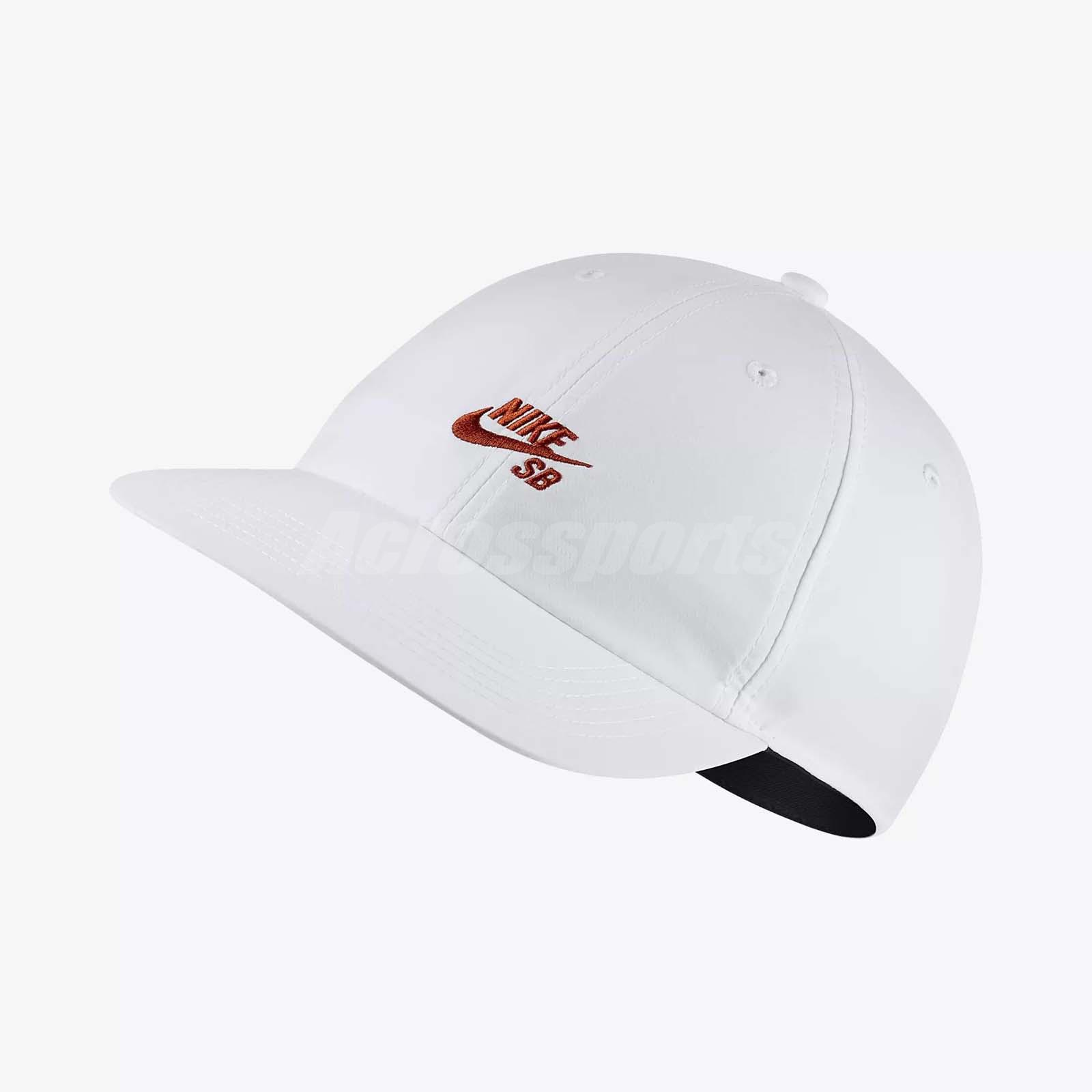 370fd4ab Details about Nike SB Heritage 86 Adjustable Hat H86 Cap Skateboarding  Sports White 926686-100