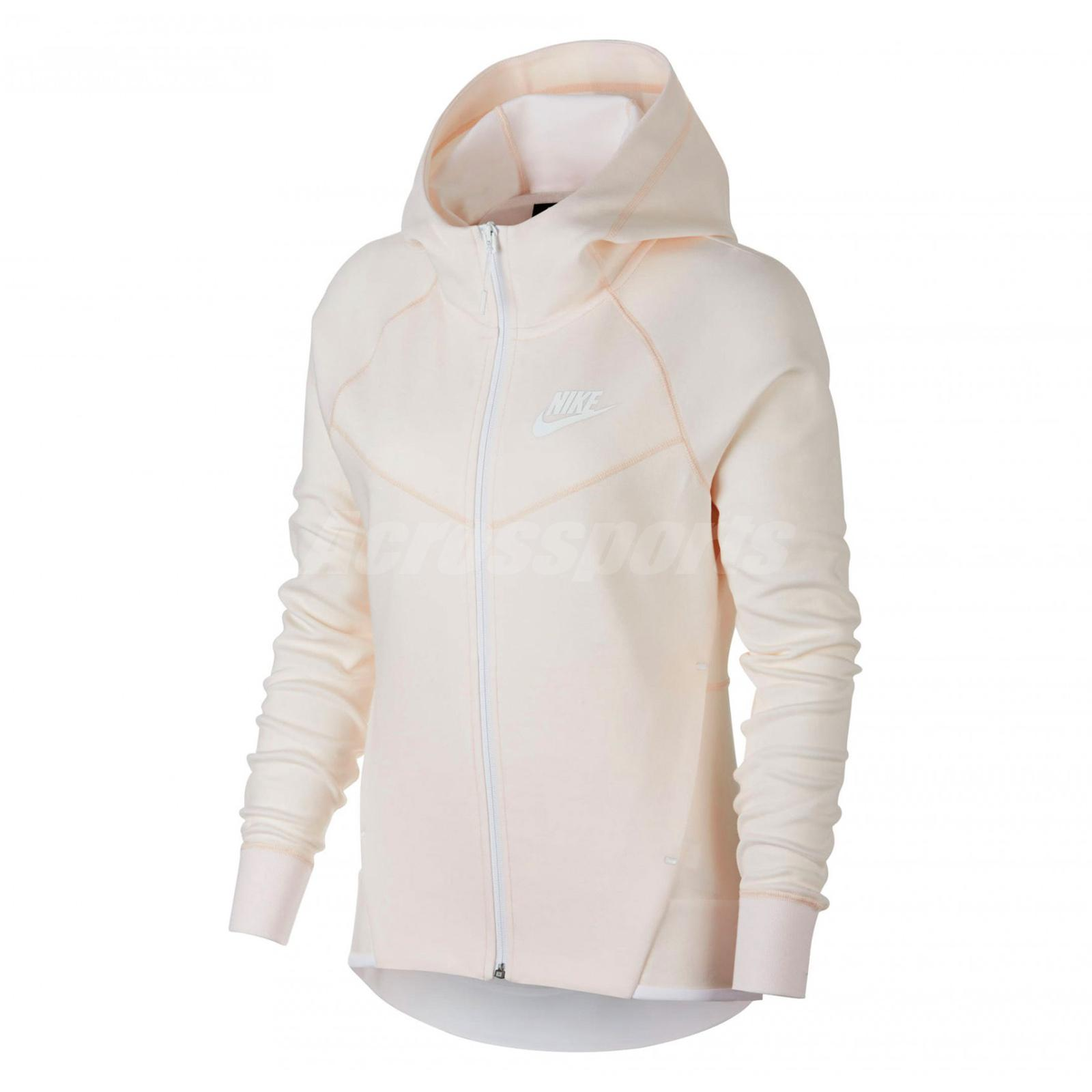Nike Women Nsw Tech Fleece Windrunner Hoodie Full Zip Jacket Orange 930760 838 Ebay