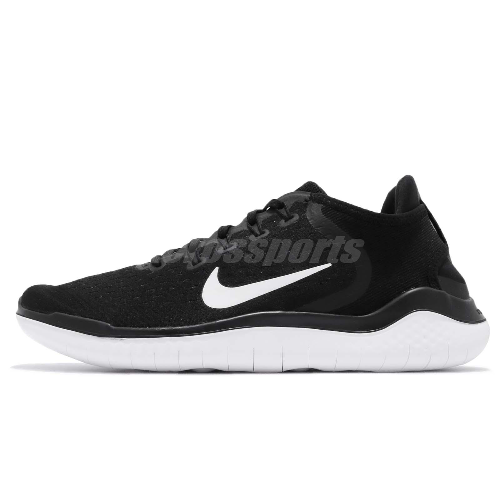 Nike Free RN 2018 Run Black White Men Running Shoes Sneakers 942836001