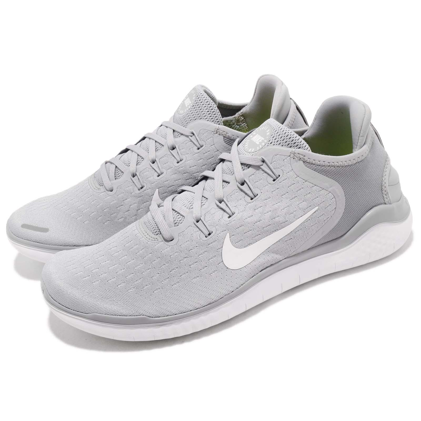 e91aceb2129 Details about Nike Free RN 2018 Grey White Run Barefoot Mens Running Shoes  Sneakers 942836-003