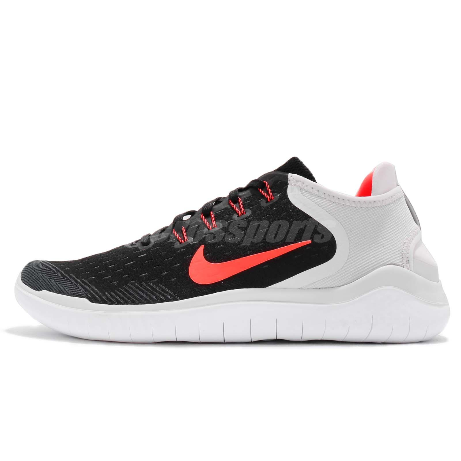 Nike Free RN 2018 Black Total Crimson Men Running Shoes Sneakers 942836-005