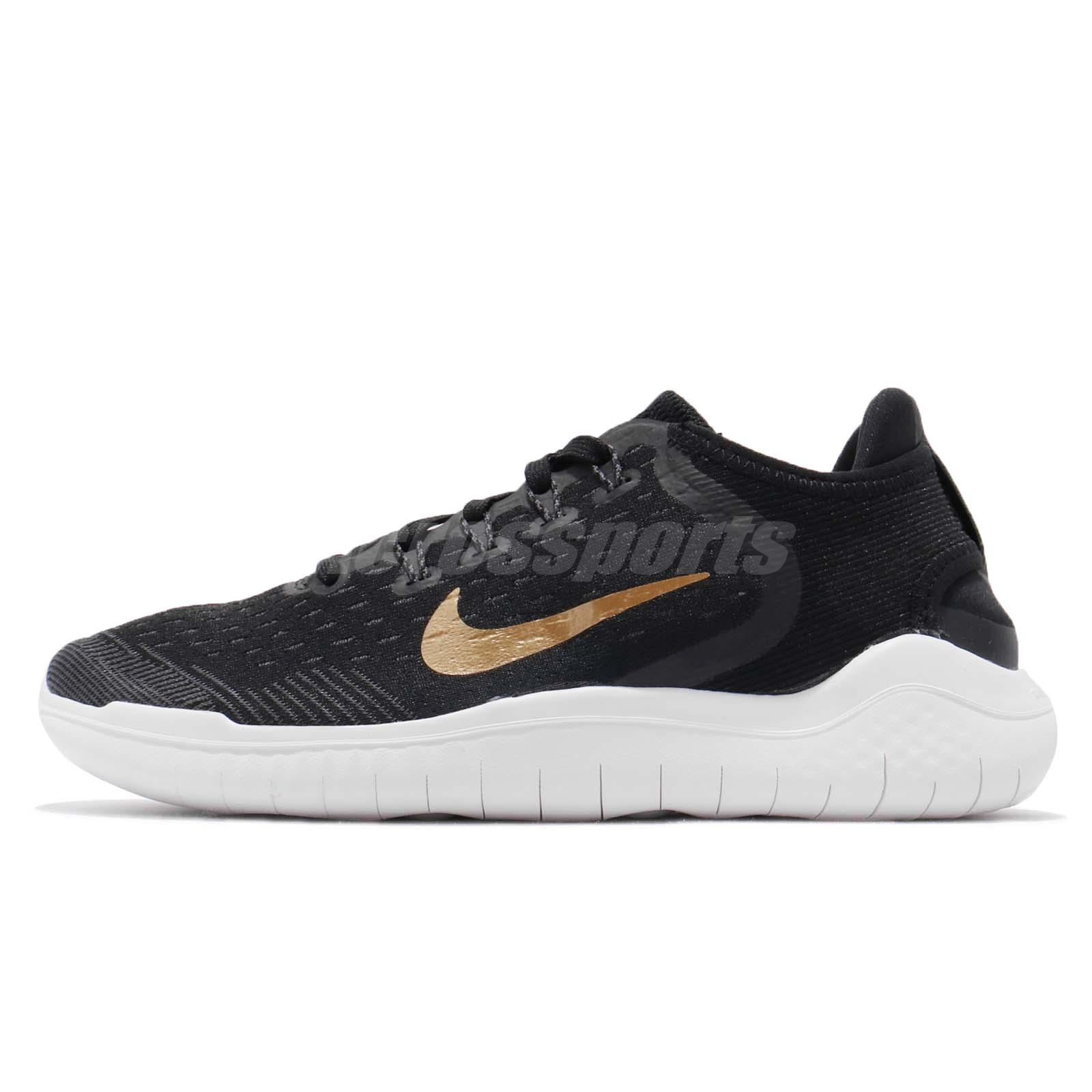 0b1e3d625f0b Nike Wmns Free RN 2018 Run Black Gold Women Running Shoes Sneakers  942837-008