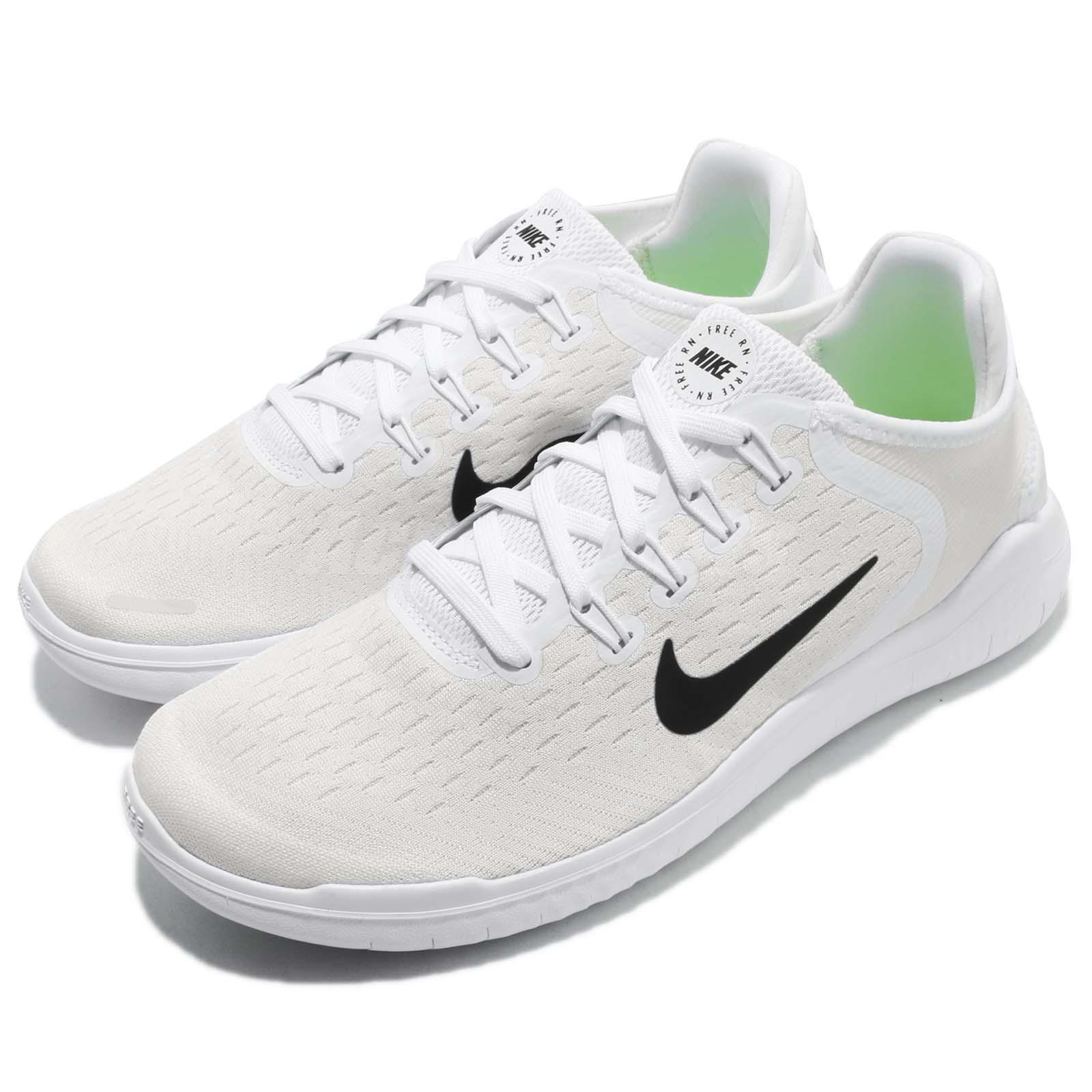 new product f928a 76e3c Details about Wmns Nike Free RN 2018 Run White Black Women Running Shoes  Sneakers 942837-100