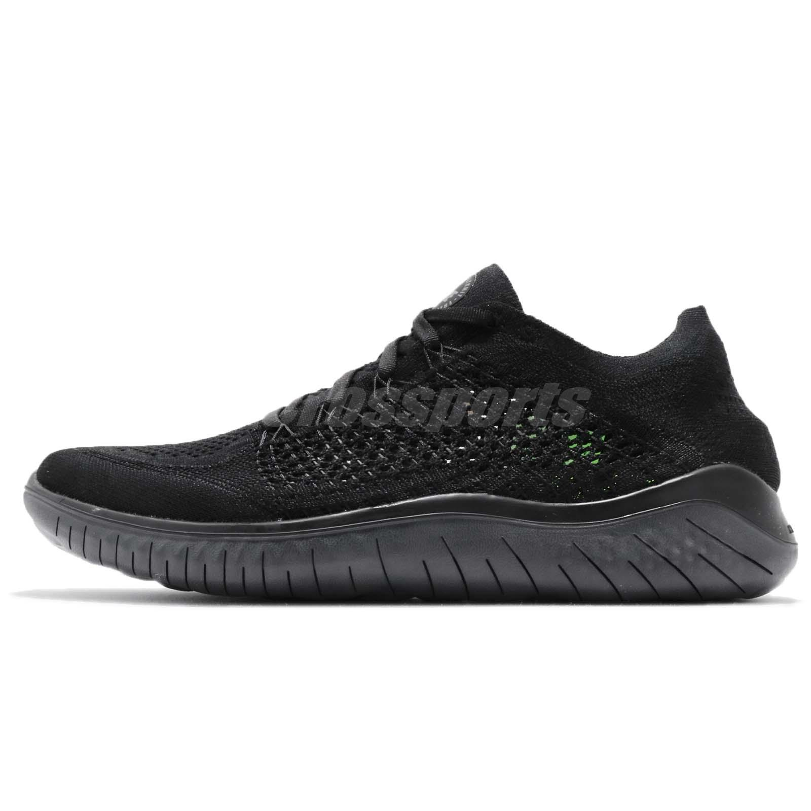 e8f5e0c2344 Nike Free RN Flyknit 2018 Run Black Anthracite Men Running Shoes 942838-002