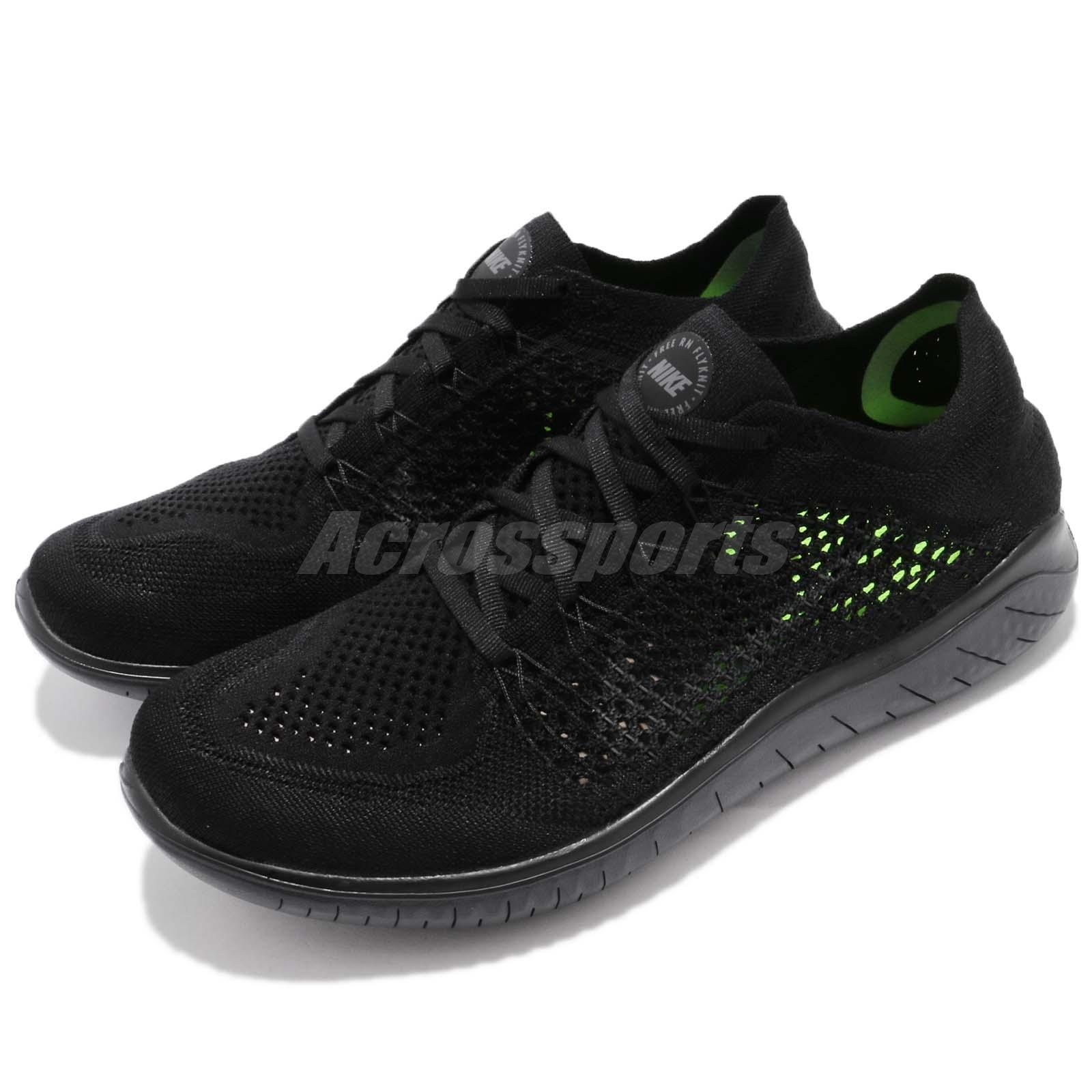 07bfedb8157c Details about Nike Free RN Flyknit 2018 Run Black Anthracite Men Running  Shoes 942838-002