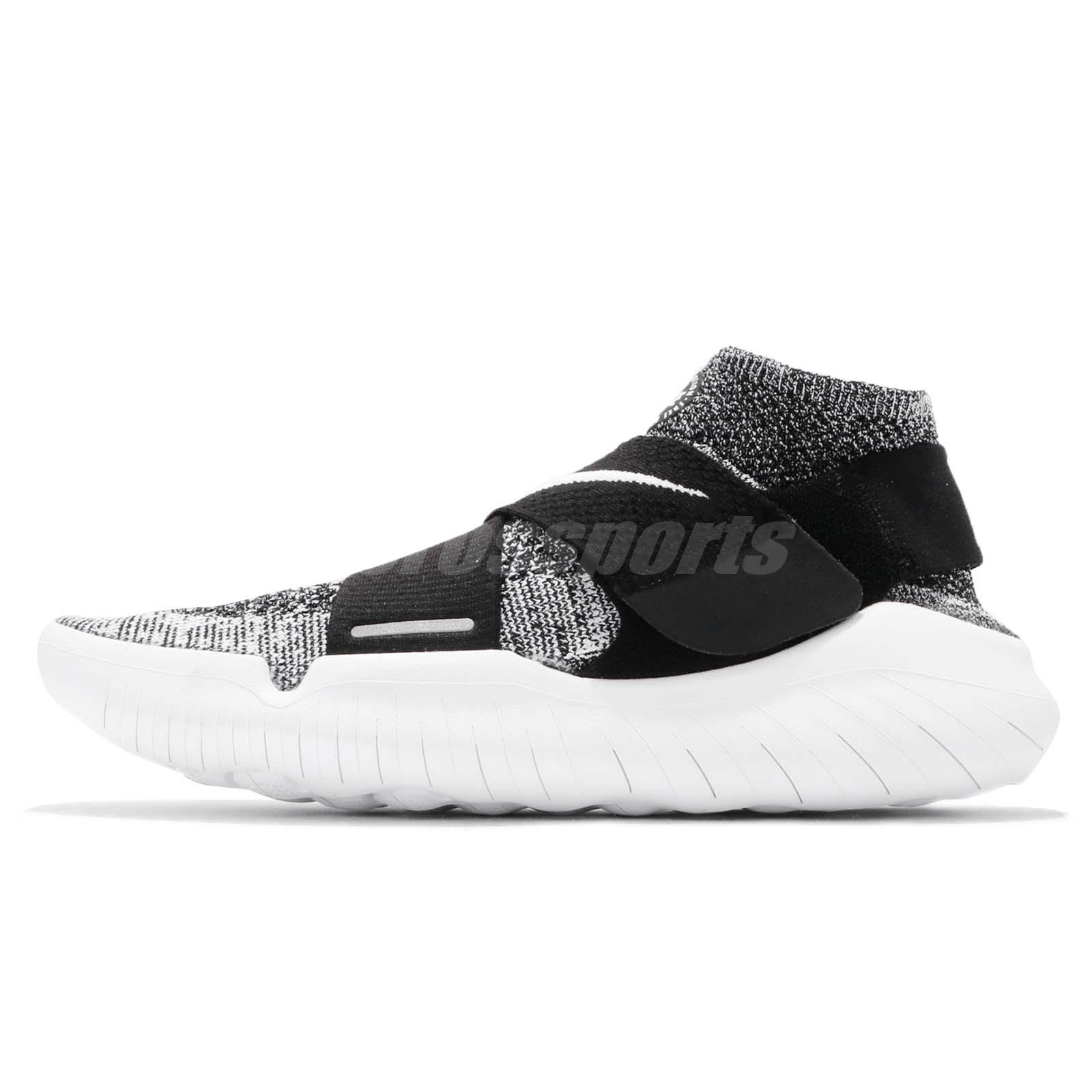 the best attitude cab8f 82474 Nike Free RN Motion FK 2018 Run Flyknit Black White Men Running Shoes  942840-001