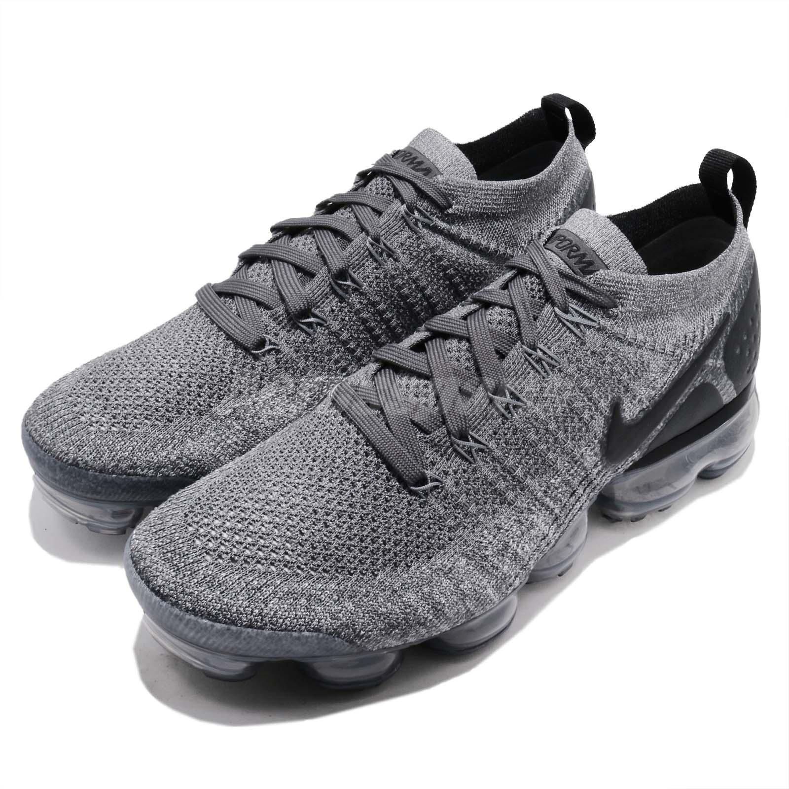 cc1ebee3219 Details about Nike Air Vapormax Flyknit 2 II Dark Grey Men Running Shoes  Sneakers 942842-002