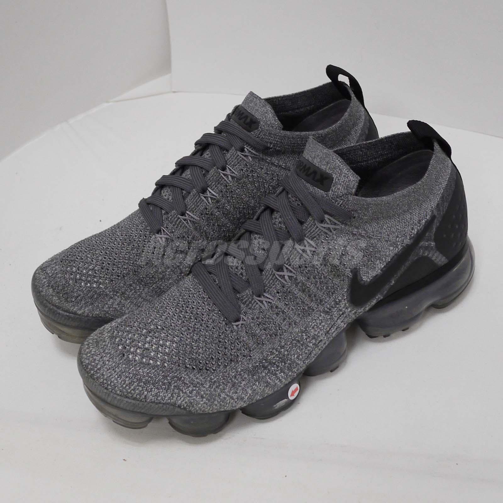 Nike Free Rn Flyknit 2 Wolf Grey Black W AUTHENTIC NWT
