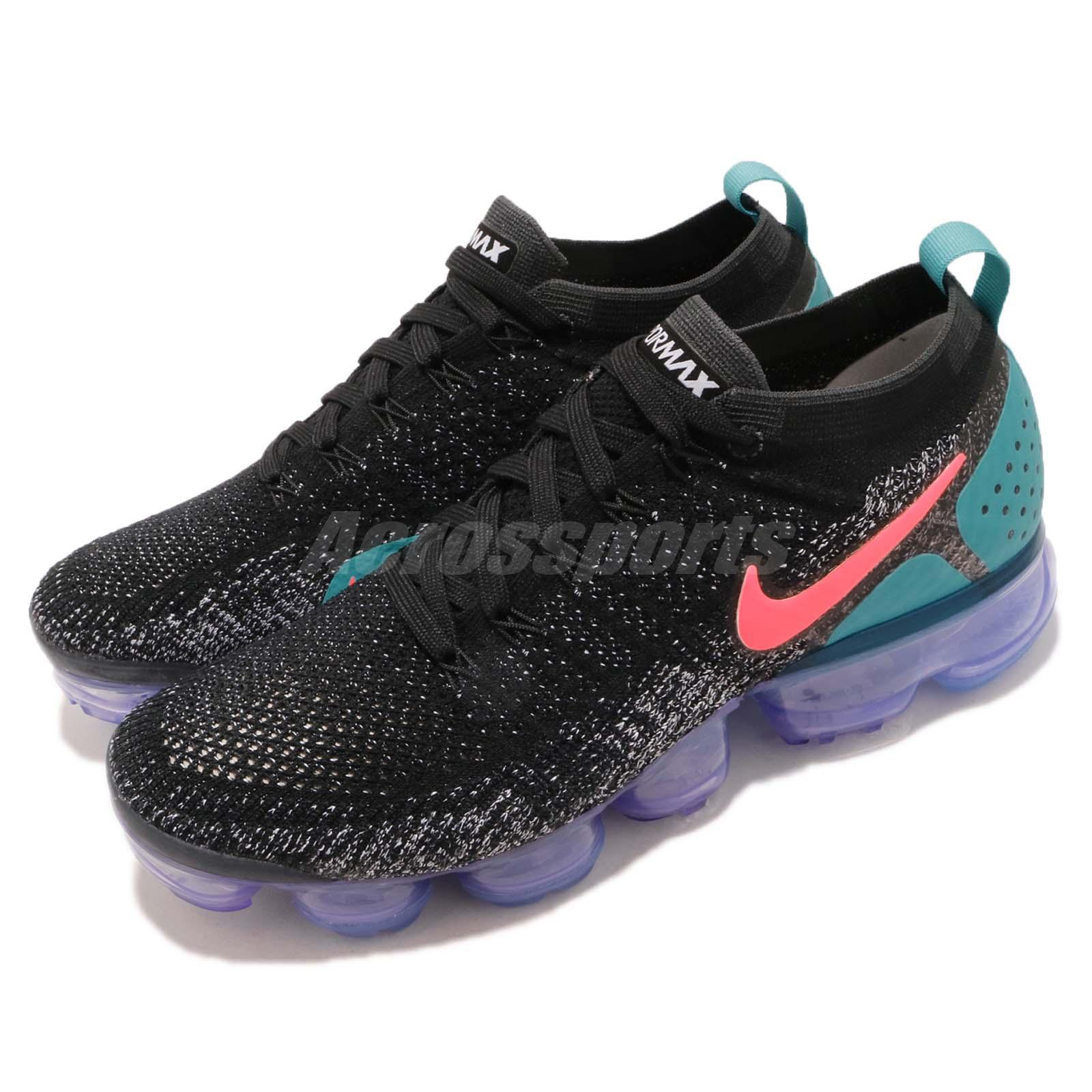 big sale d45af 72b83 Details about Nike Air Vapormax Flyknit 2 Black Dusty Cactus Max Mens  Running Shoes 942842-003