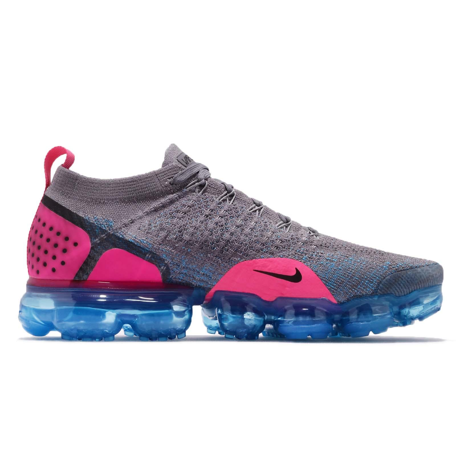 e565436c51d9 Nike Air Vapormax Flyknit 2 II Gunsmoke Pink Blue Men Running Shoes ...