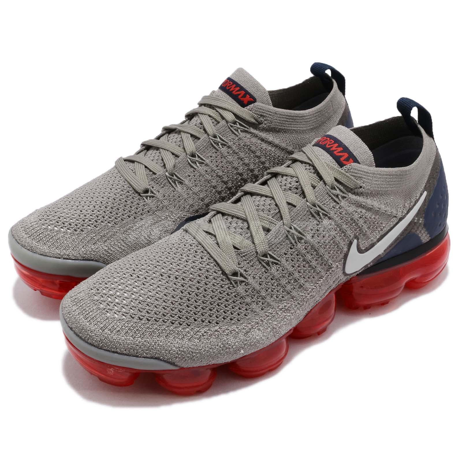 5f15a573902 Details about Nike Nike Air Vapormax Flyknit 2 II Dark Stucco Navy Red Men Shoes  942842-010