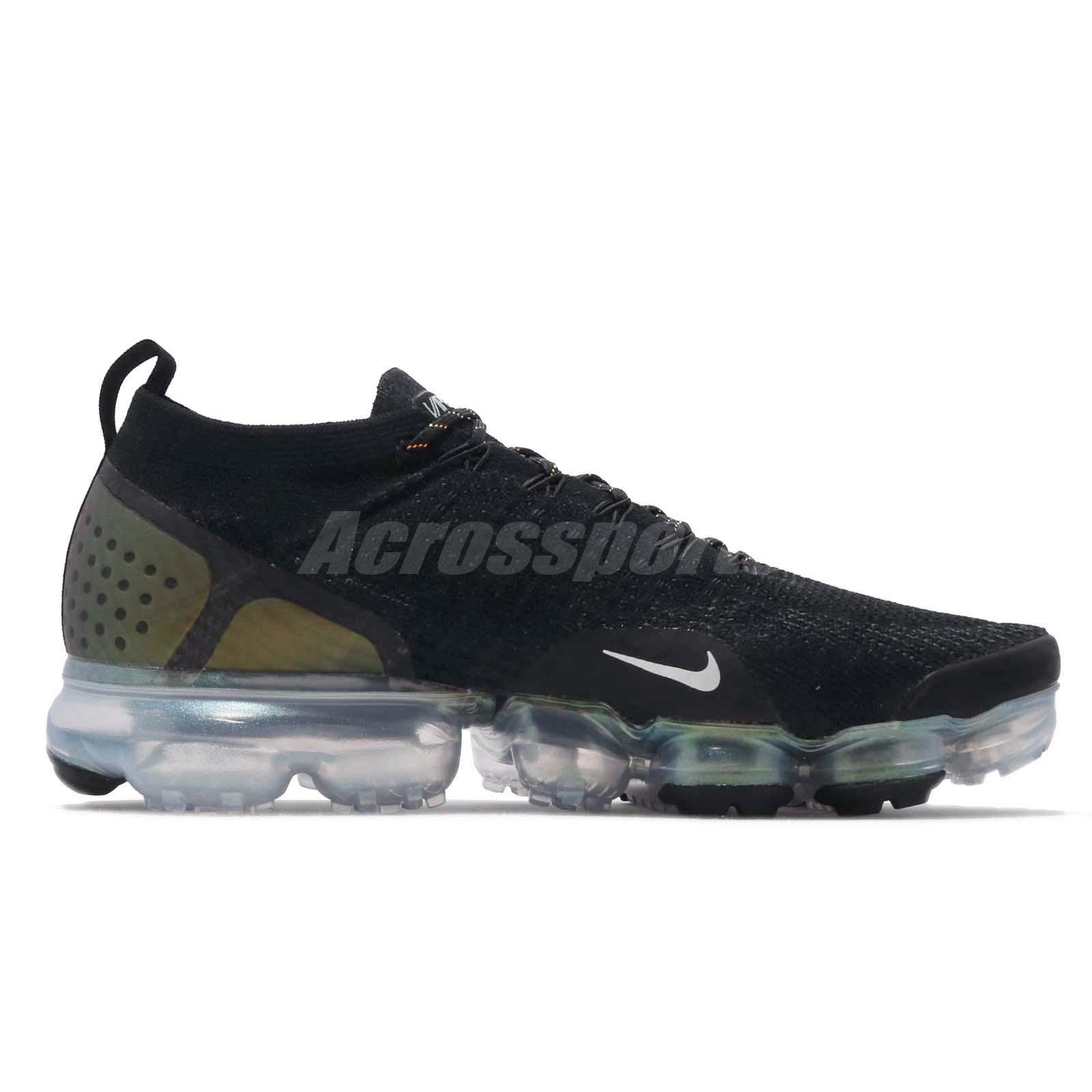 ba1efb154b Nike Air Vapormax Flyknit 2 Black Gold Men Running Shoes Sneakers ...