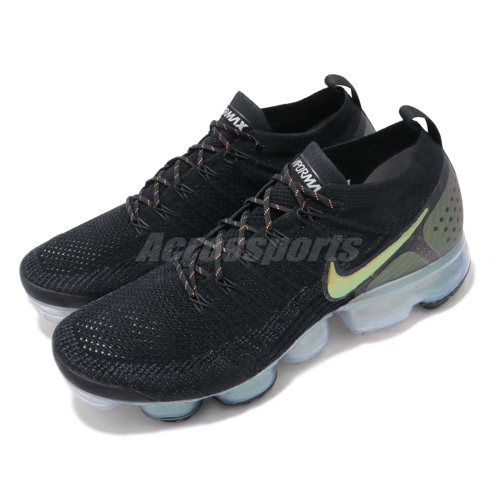 half off 57b71 976e5 Details about Nike Air Vapormax Flyknit 2 Black Gold Men Running Shoes  Sneakers 942842-015