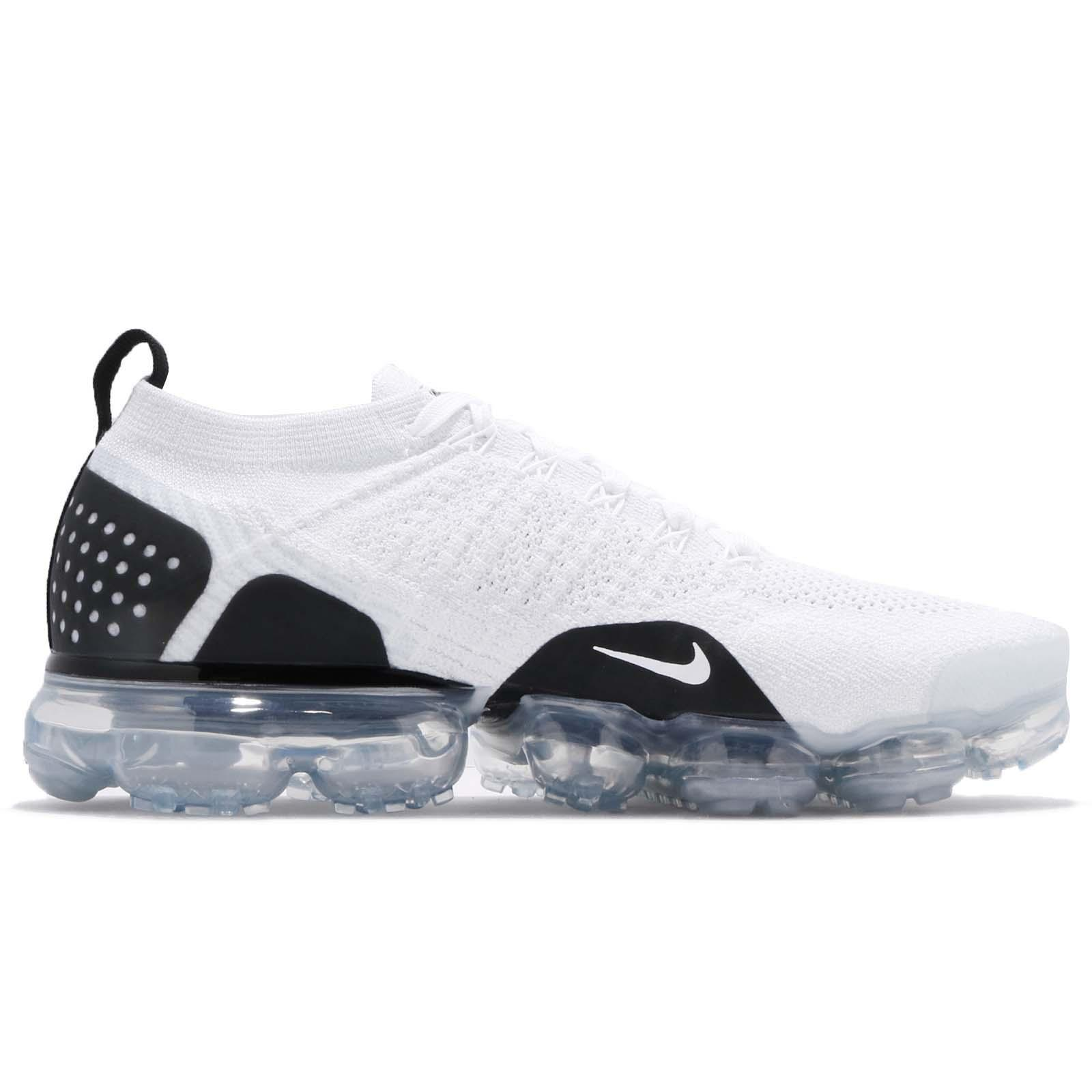 75897c41afb Nike Air Vapormax Flyknit 2.0 Reverse Orca White Black Men Running ...