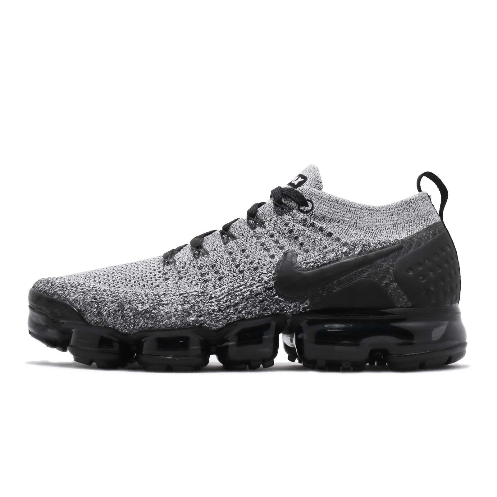 huge discount a04dc c956f Nike Air Vapormax Flyknit 2 White Black Men Running Shoes Sneakers 942842 -107