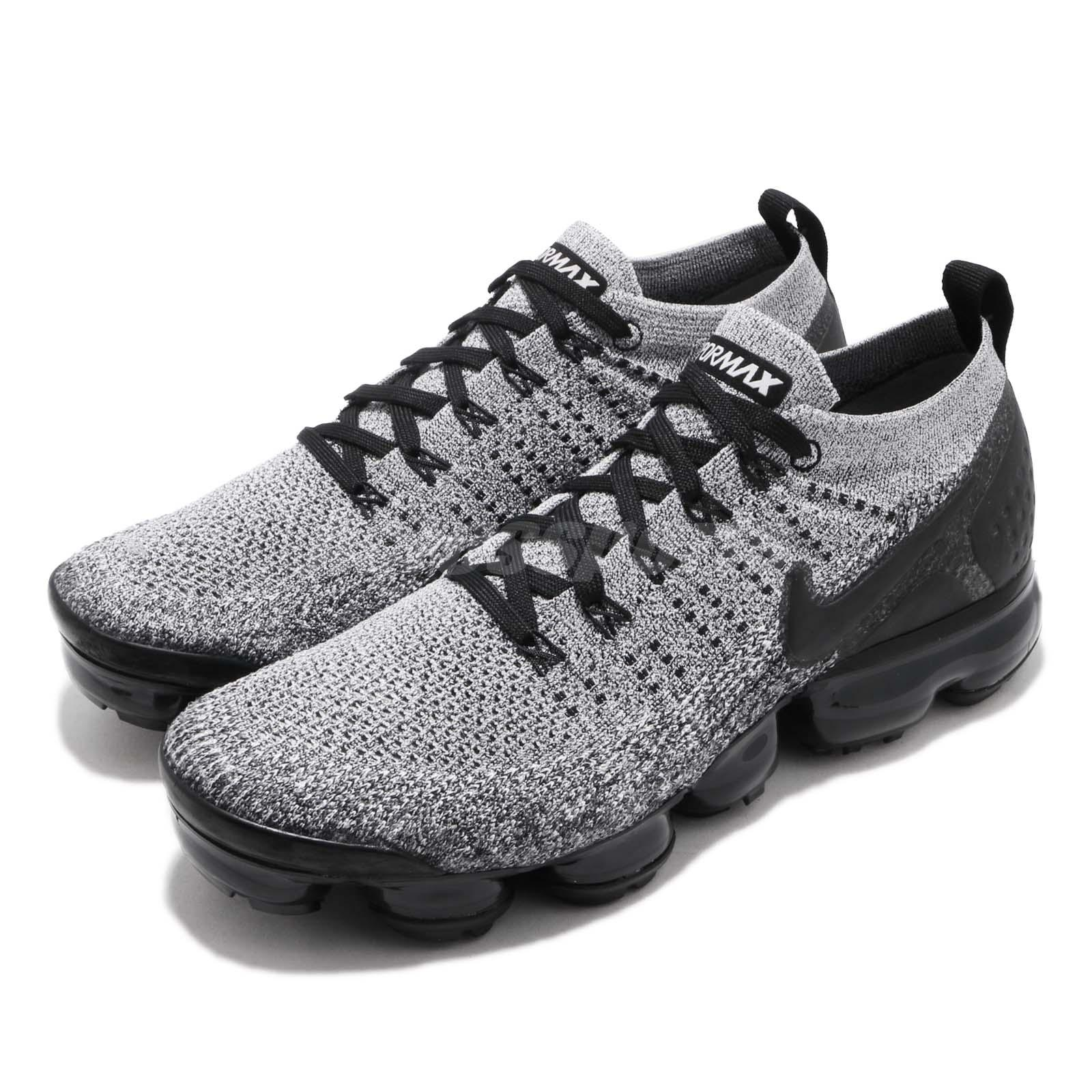 quality design 9550a e9ef7 Details about Nike Air Vapormax Flyknit 2 White Black Men Running Shoes  Sneakers 942842-107