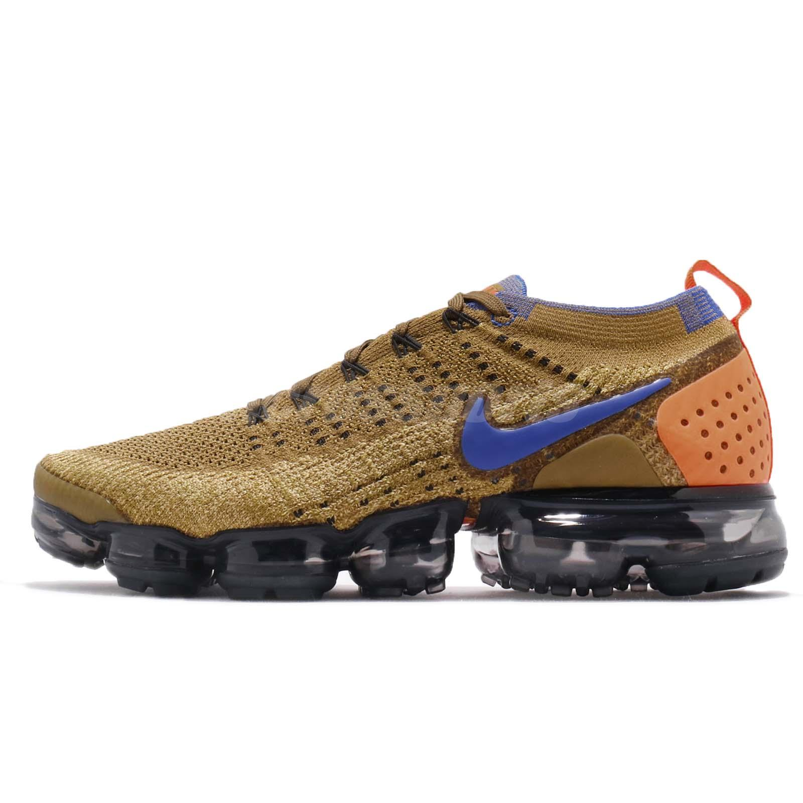 best website c05ff 6ec02 Nike Air Vapormax Flyknit 2 II Mowabb Golden Beige Men Running Shoes  942842-203